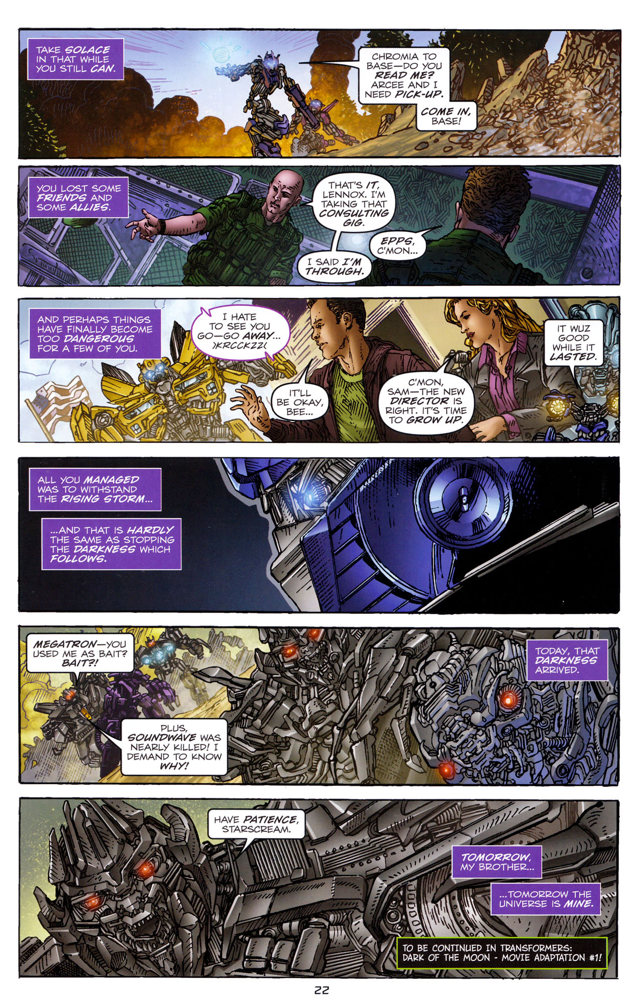 Read online Transformers: Dark of the Moon Rising Storm comic -  Issue #4 - 23