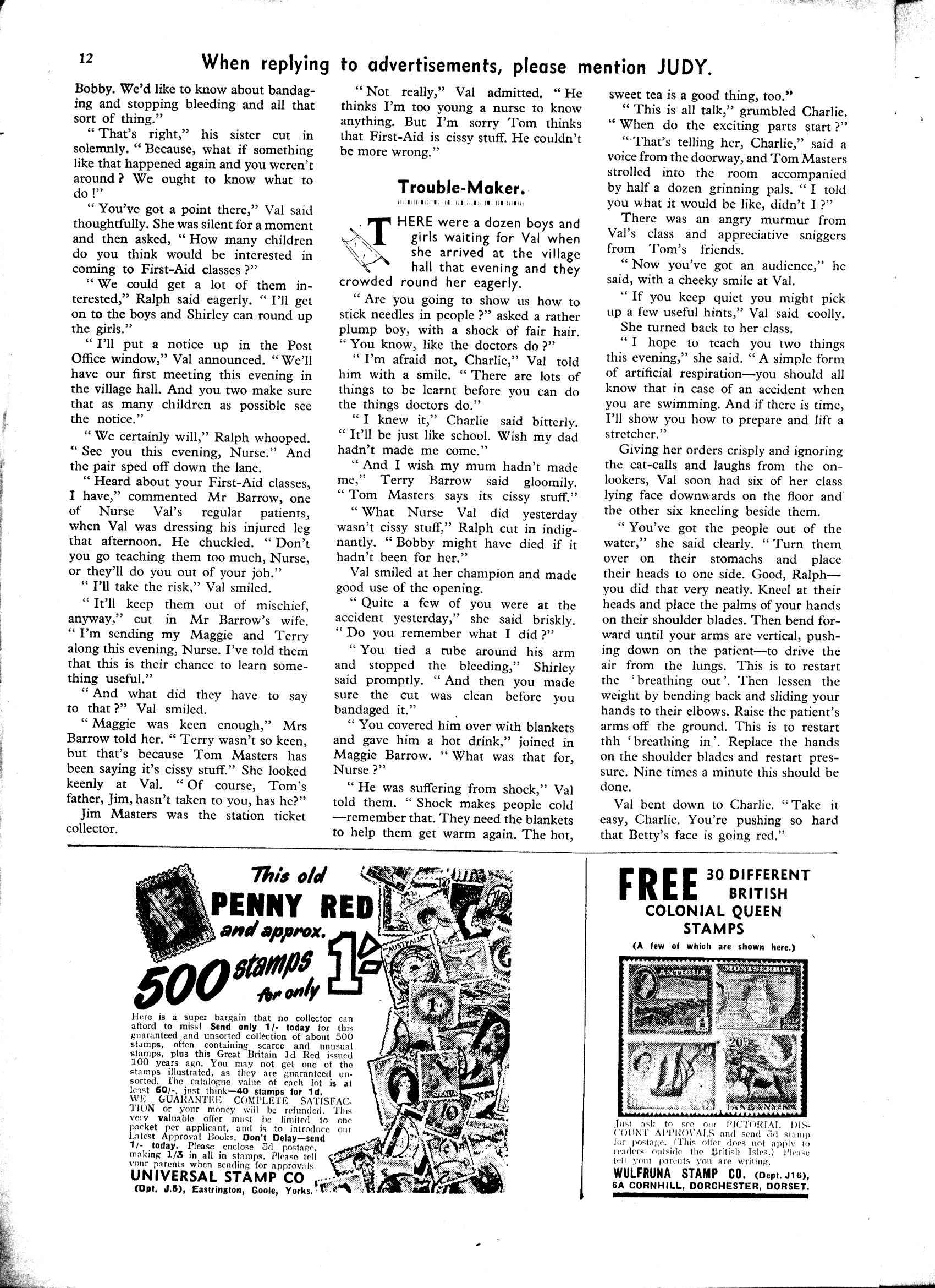 Read online Judy comic -  Issue #46 - 12