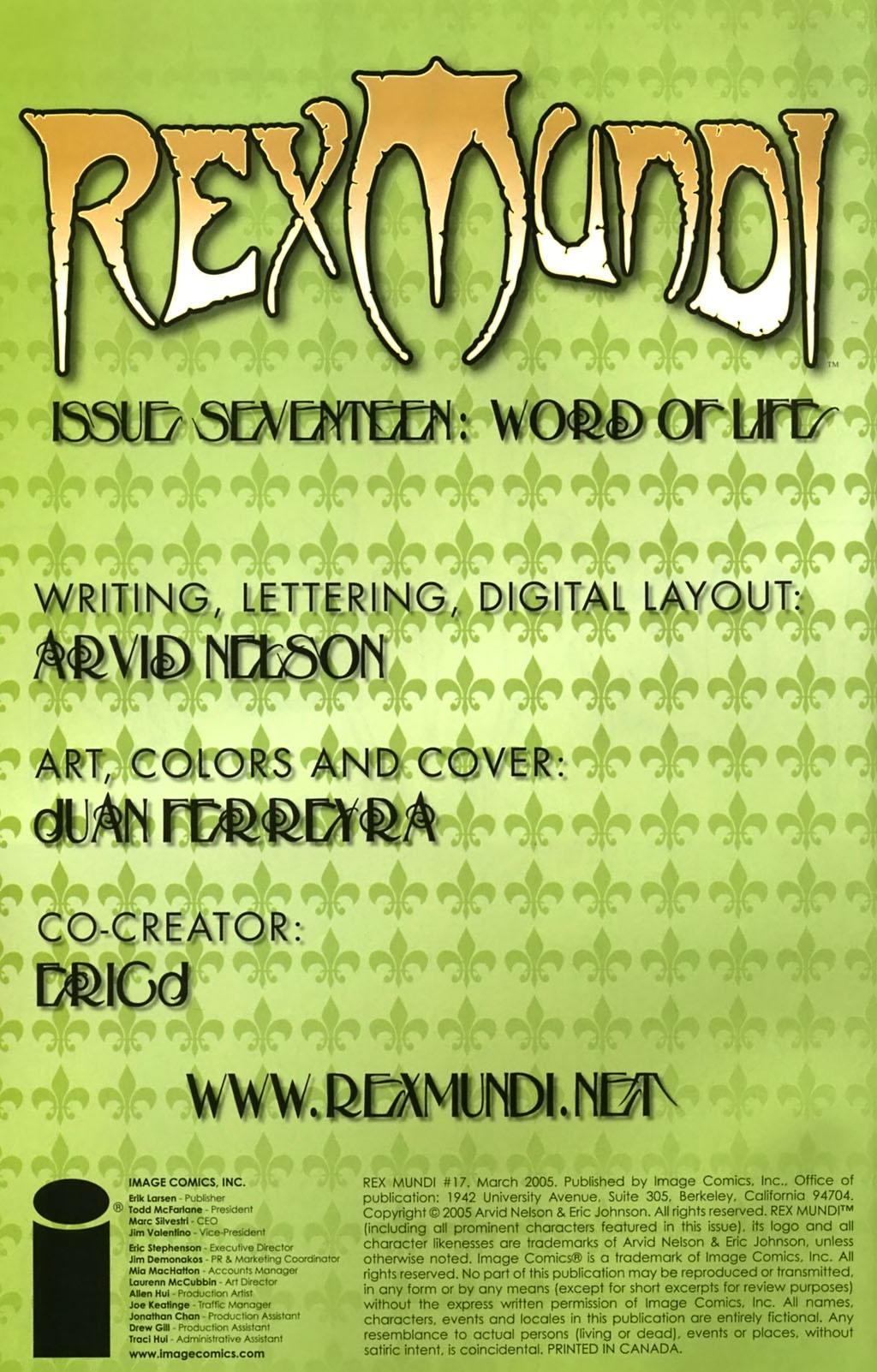 Read online Rex Mundi comic -  Issue #17 - 2