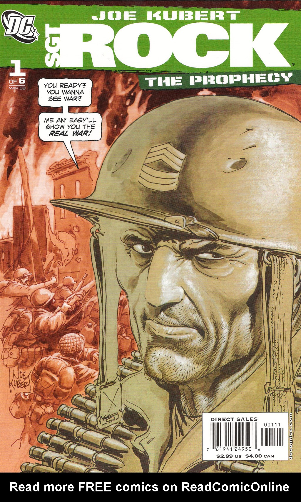 Read online Sgt. Rock: The Prophecy comic -  Issue #1 - 1