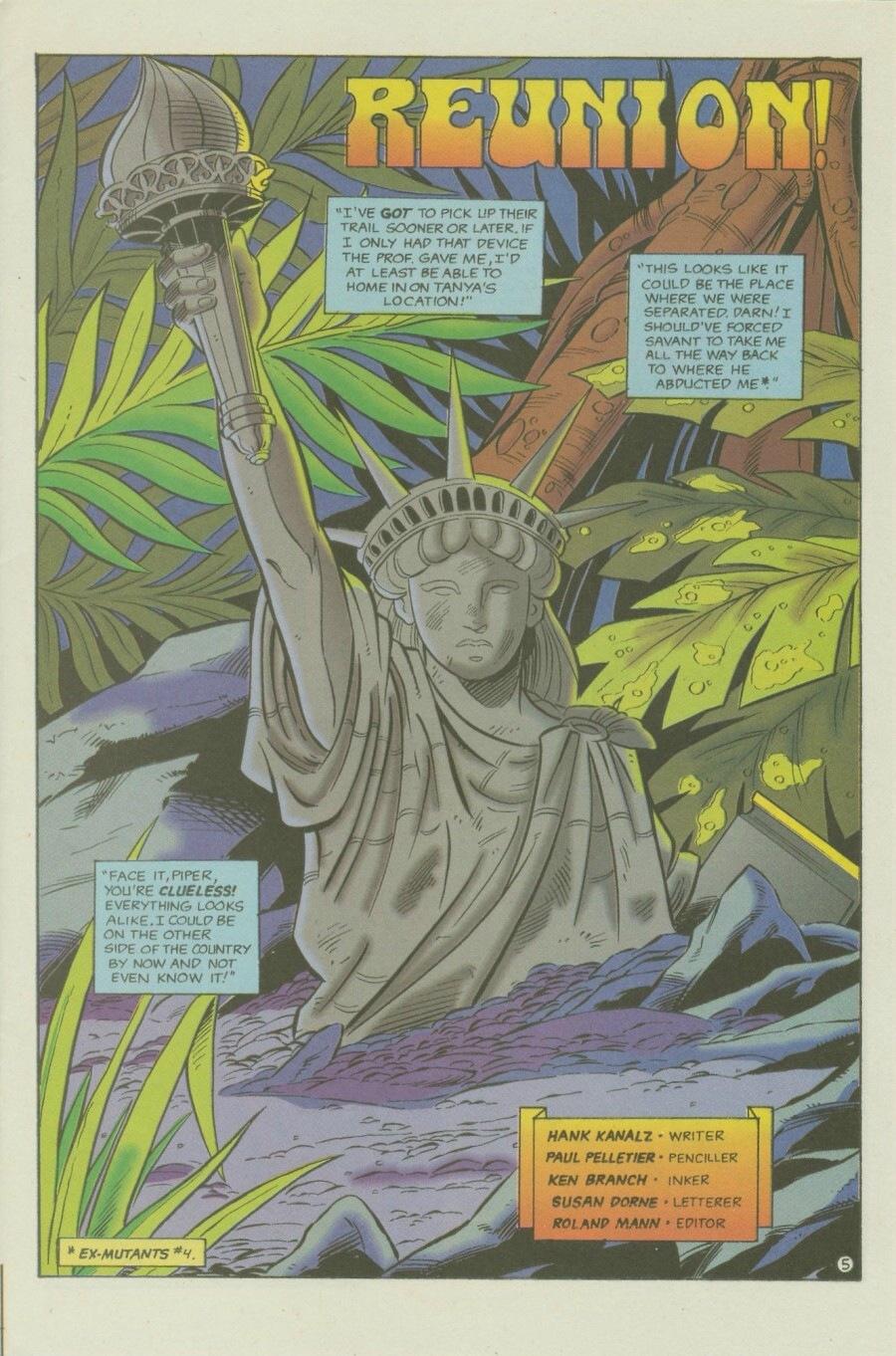 Read online Ex-Mutants comic -  Issue #6 - 7