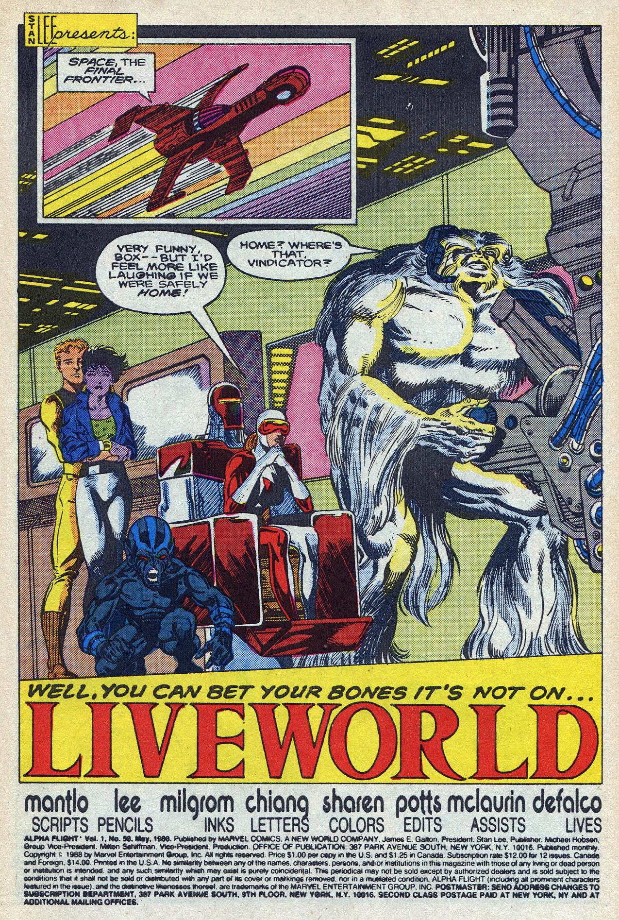 Read online Alpha Flight (1983) comic -  Issue #58 - 3