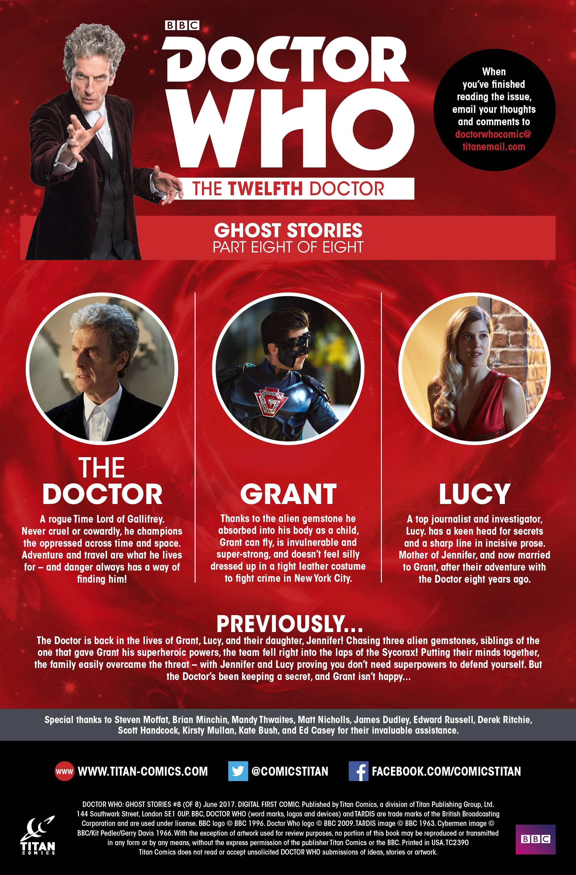 Read online Doctor Who: Ghost Stories comic -  Issue #8 - 2