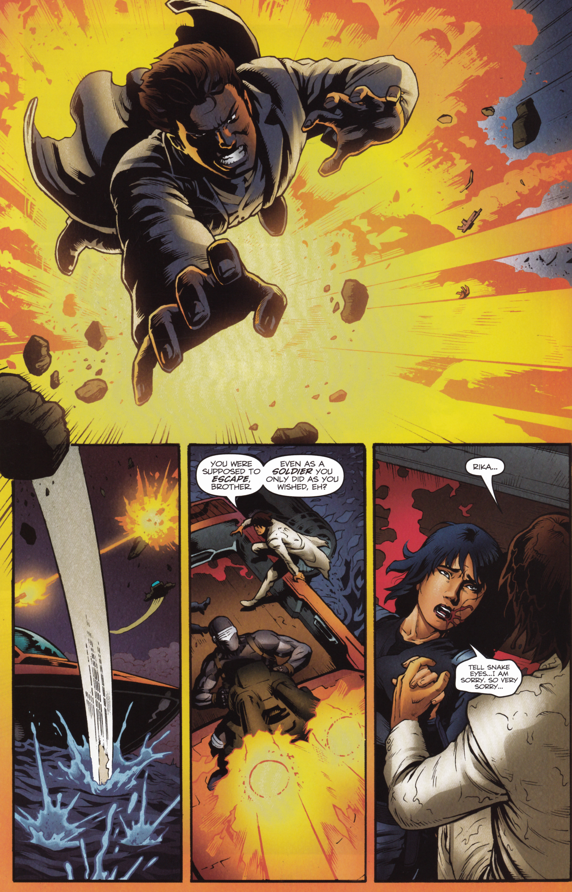 Read online Snake Eyes and Storm Shadow comic -  Issue #16 - 22