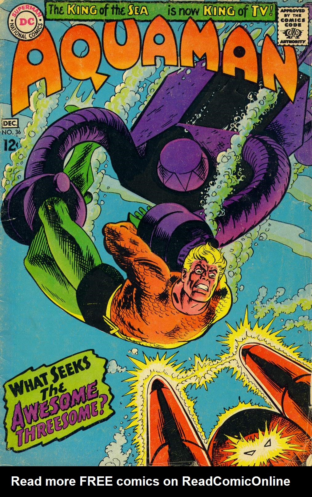 Read online Aquaman (1962) comic -  Issue #36 - 1