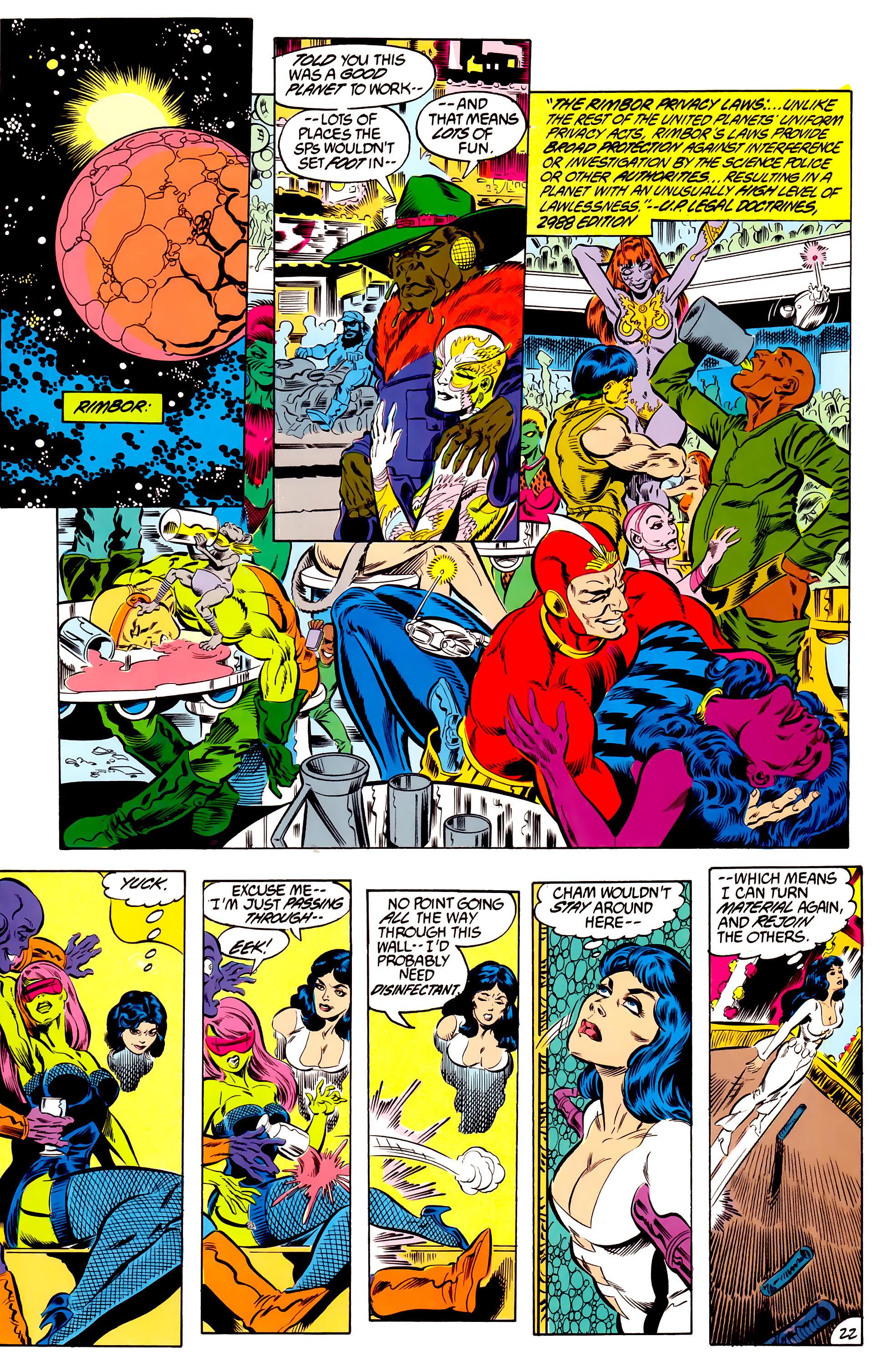 Legion of Super-Heroes (1984) 46 Page 22
