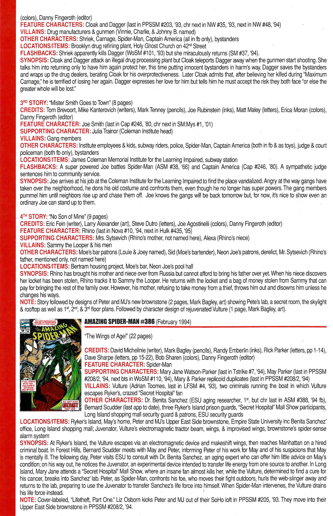 Read online Official Index to the Marvel Universe comic -  Issue #9 - 14