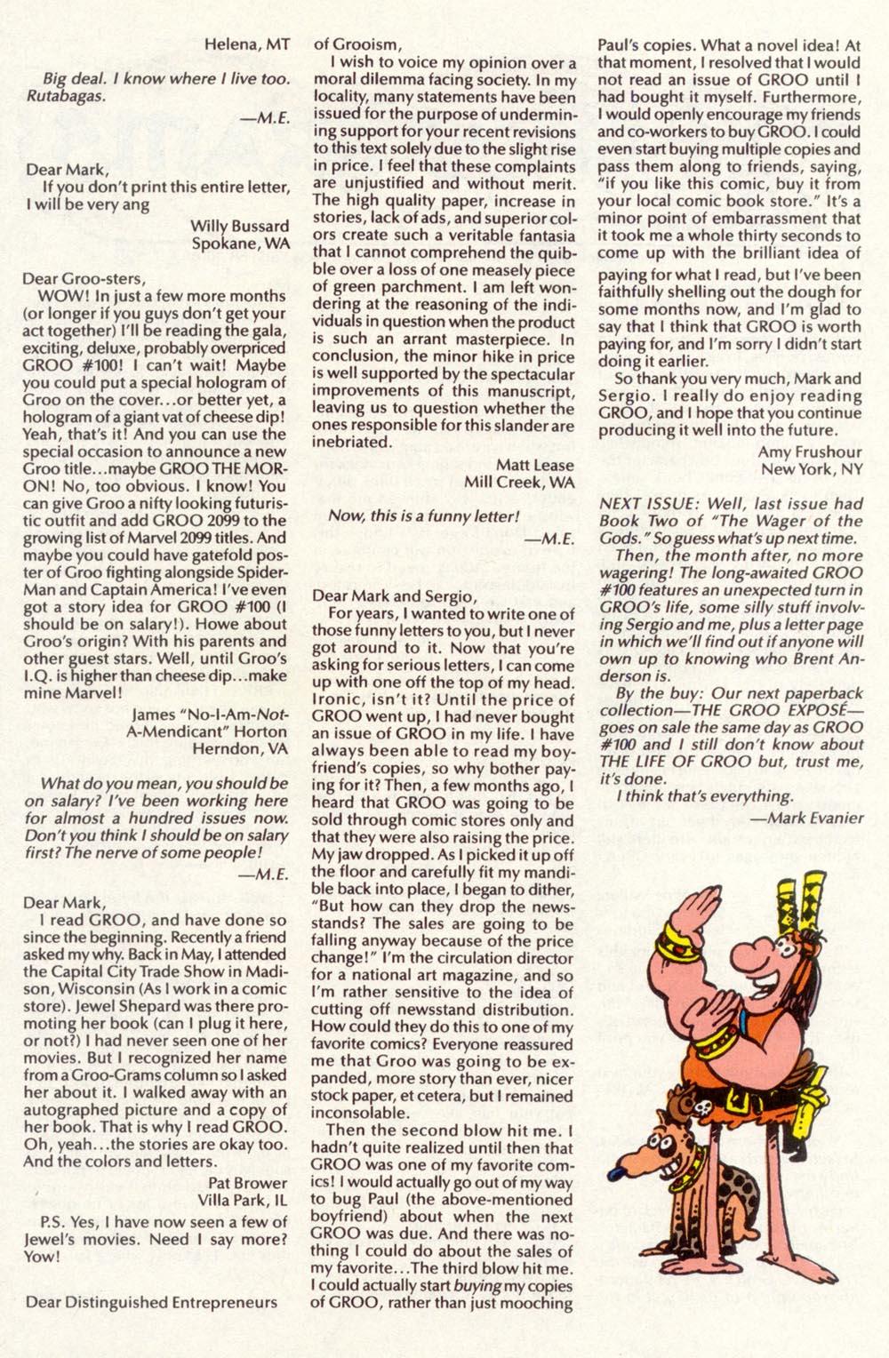 Read online Sergio Aragonés Groo the Wanderer comic -  Issue #98 - 30