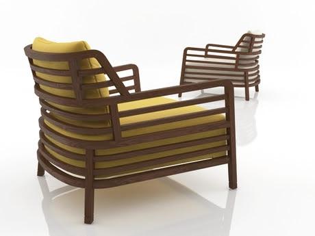 [3Dsmax] 3D model free - Flax armchair