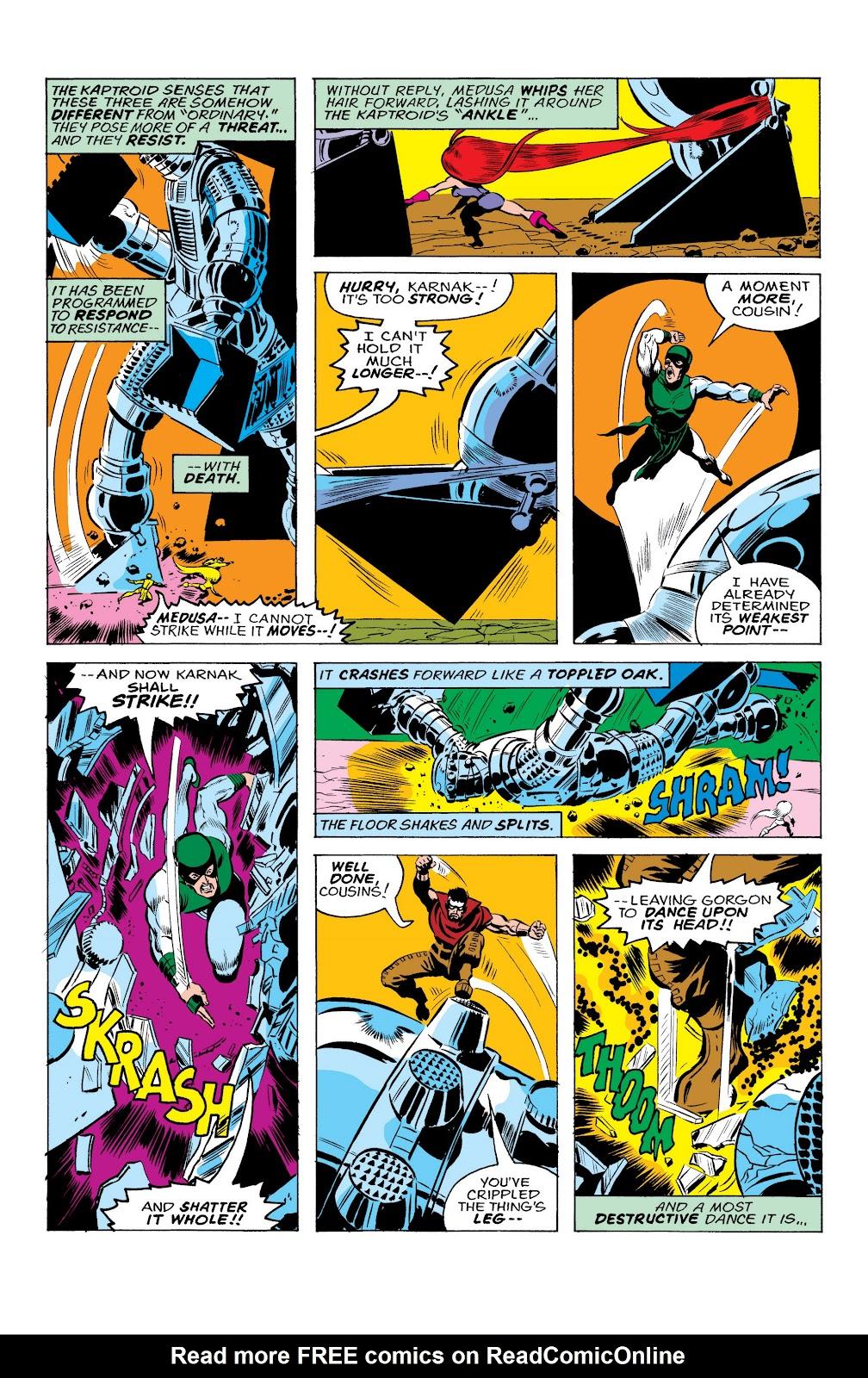 Read online Marvel Masterworks: The Inhumans comic -  Issue # TPB 2 (Part 1) - 40