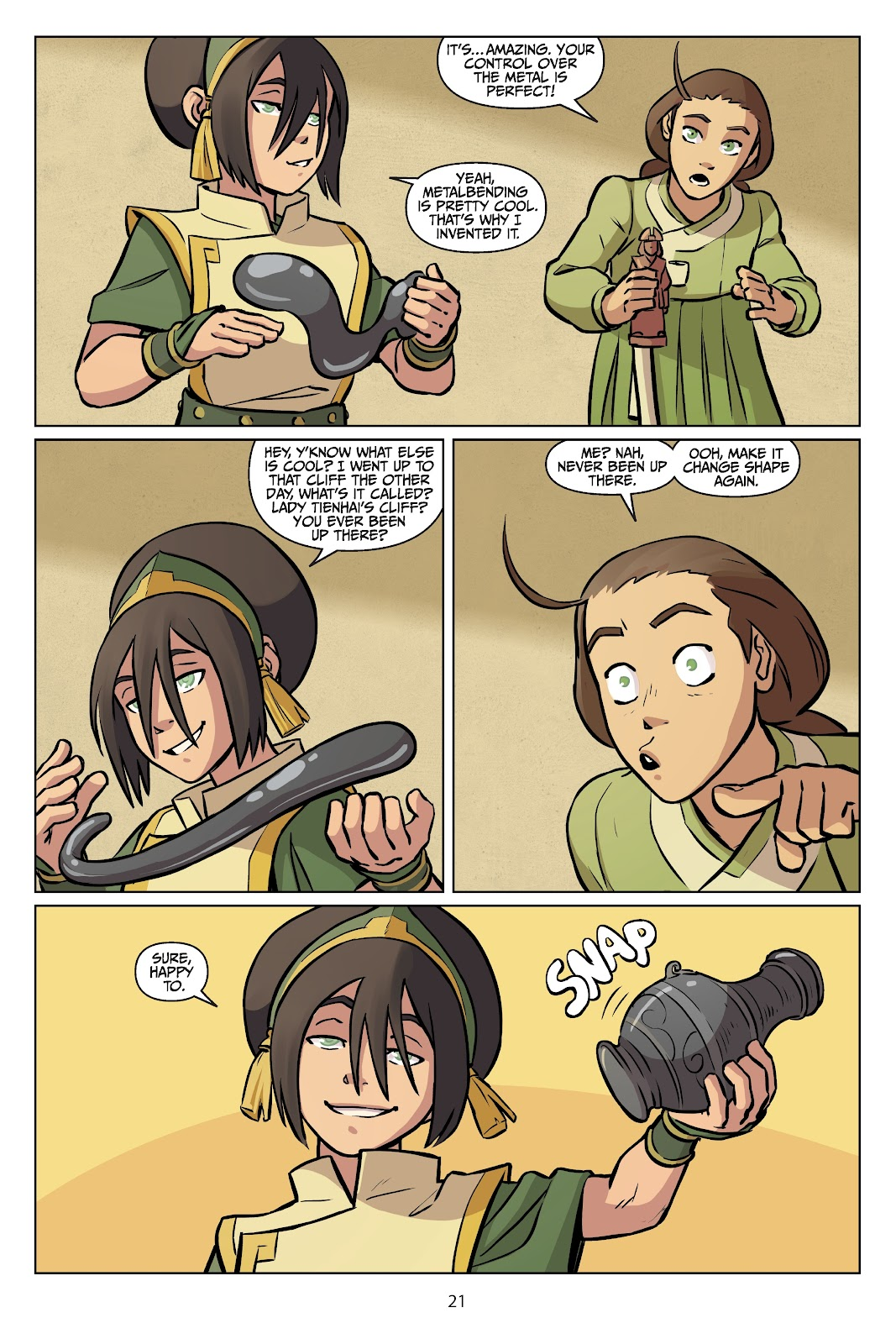 Read online Nickelodeon Avatar: The Last Airbender - Imbalance comic -  Issue # TPB 2 - 22