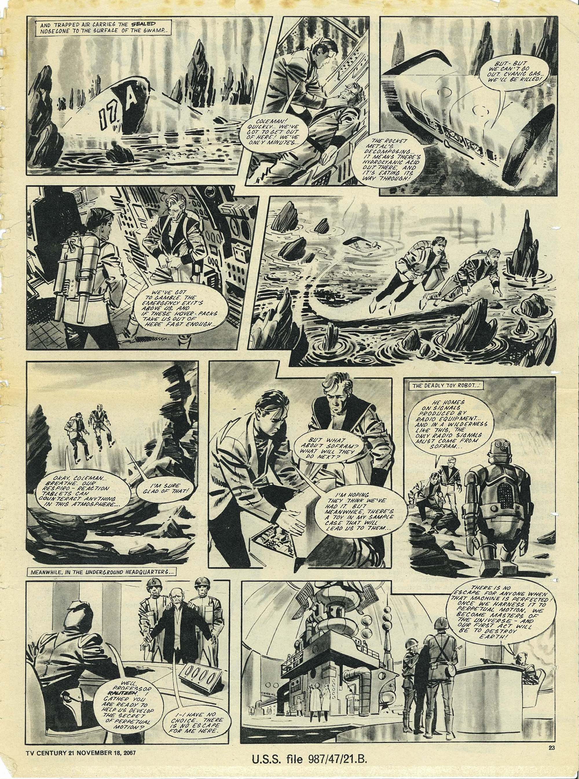 Read online TV Century 21 (TV 21) comic -  Issue #148 - 22