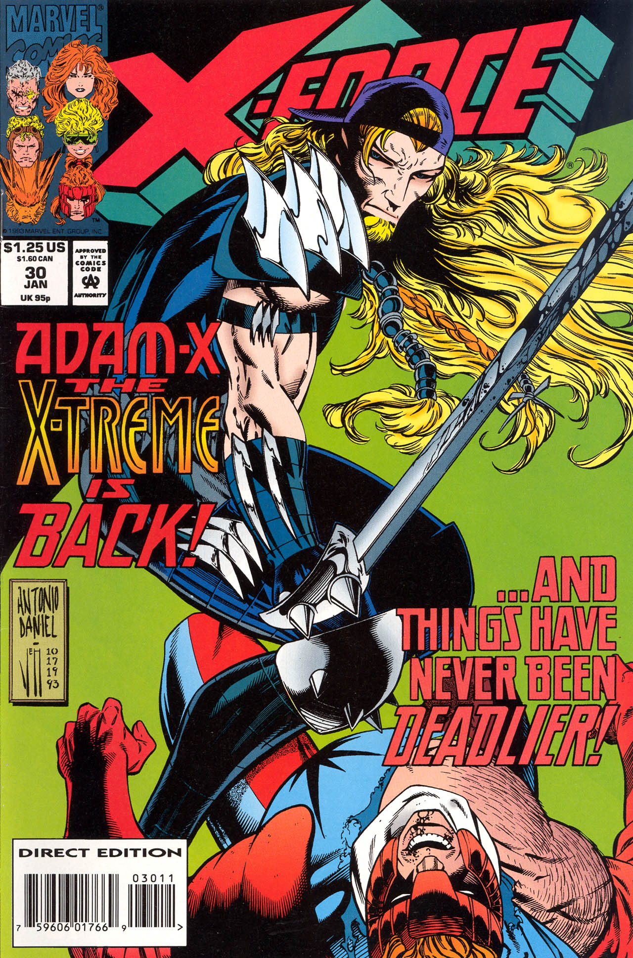 Read online X-Force (1991) comic -  Issue #30 - 1