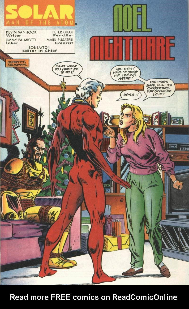 Read online Solar, Man of the Atom comic -  Issue #31 - 2