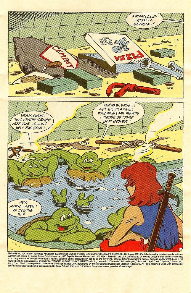 Comic Teenage Mutant Ninja Turtles Adventures (1989) issue 34