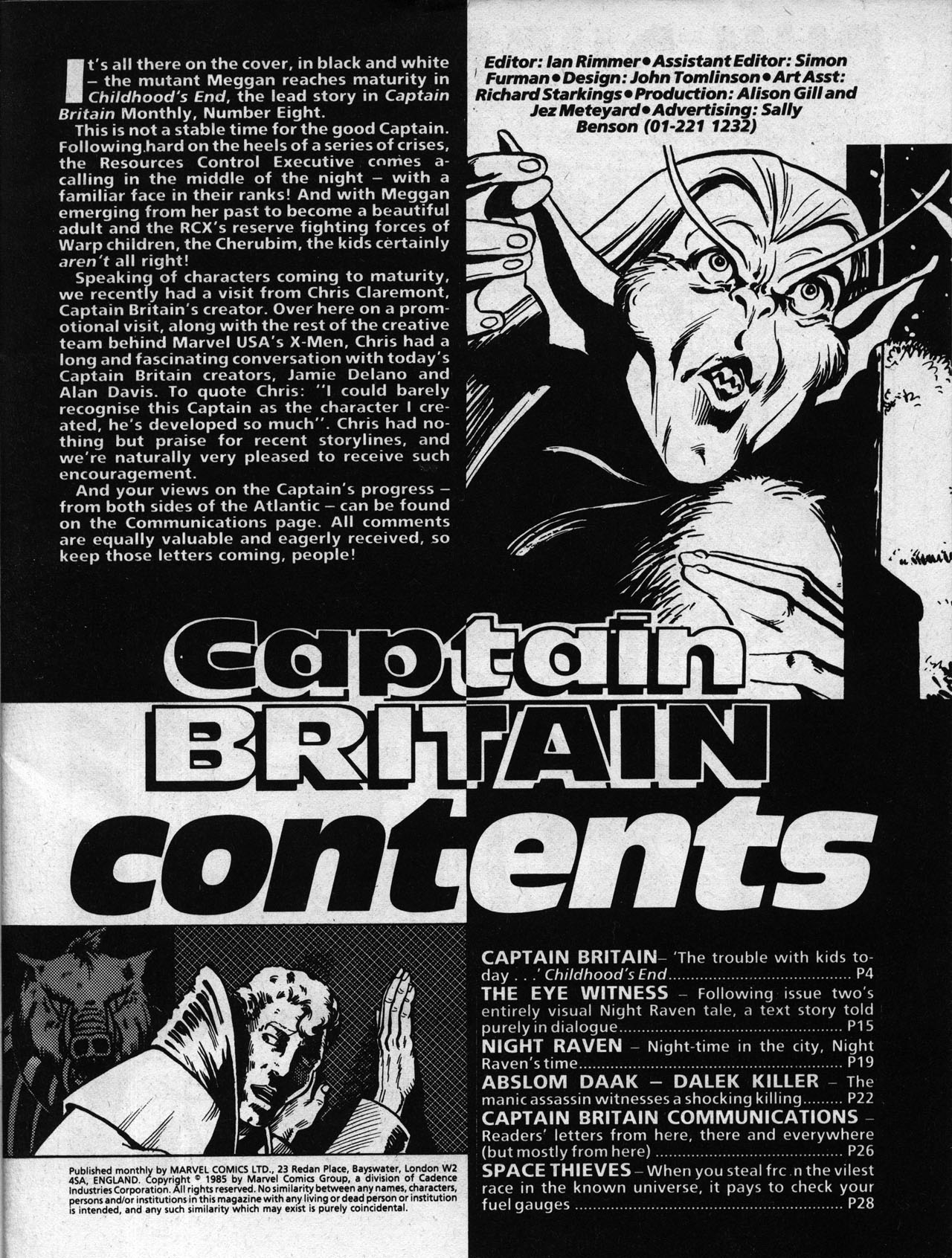 Captain Britain (1985) 8 Page 3