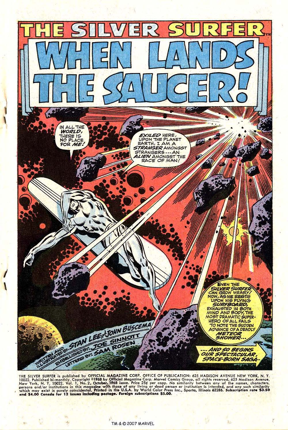 Silver Surfer (1968) Issue #2 #2 - English 3
