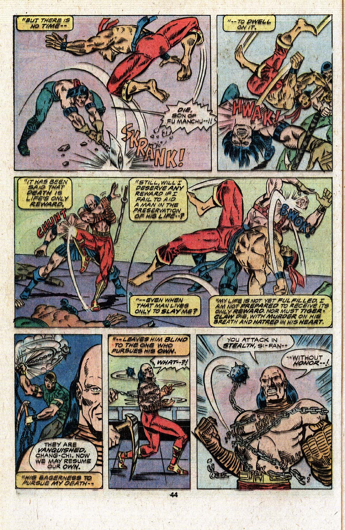Read online Giant-Size Master of Kung Fu comic -  Issue #4 - 36