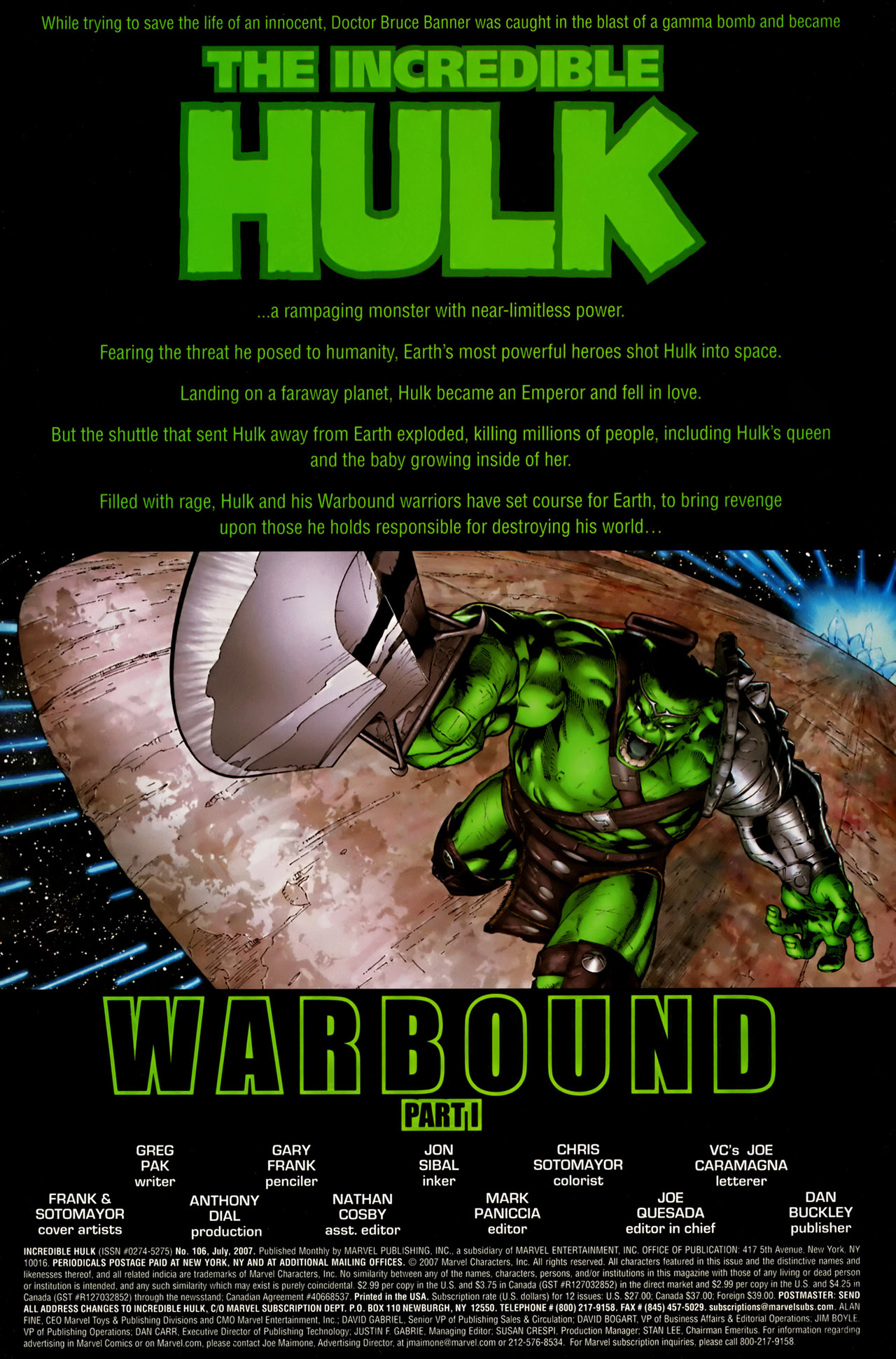 Read online The Incredible Hulk (2000) comic -  Issue #106 - 2
