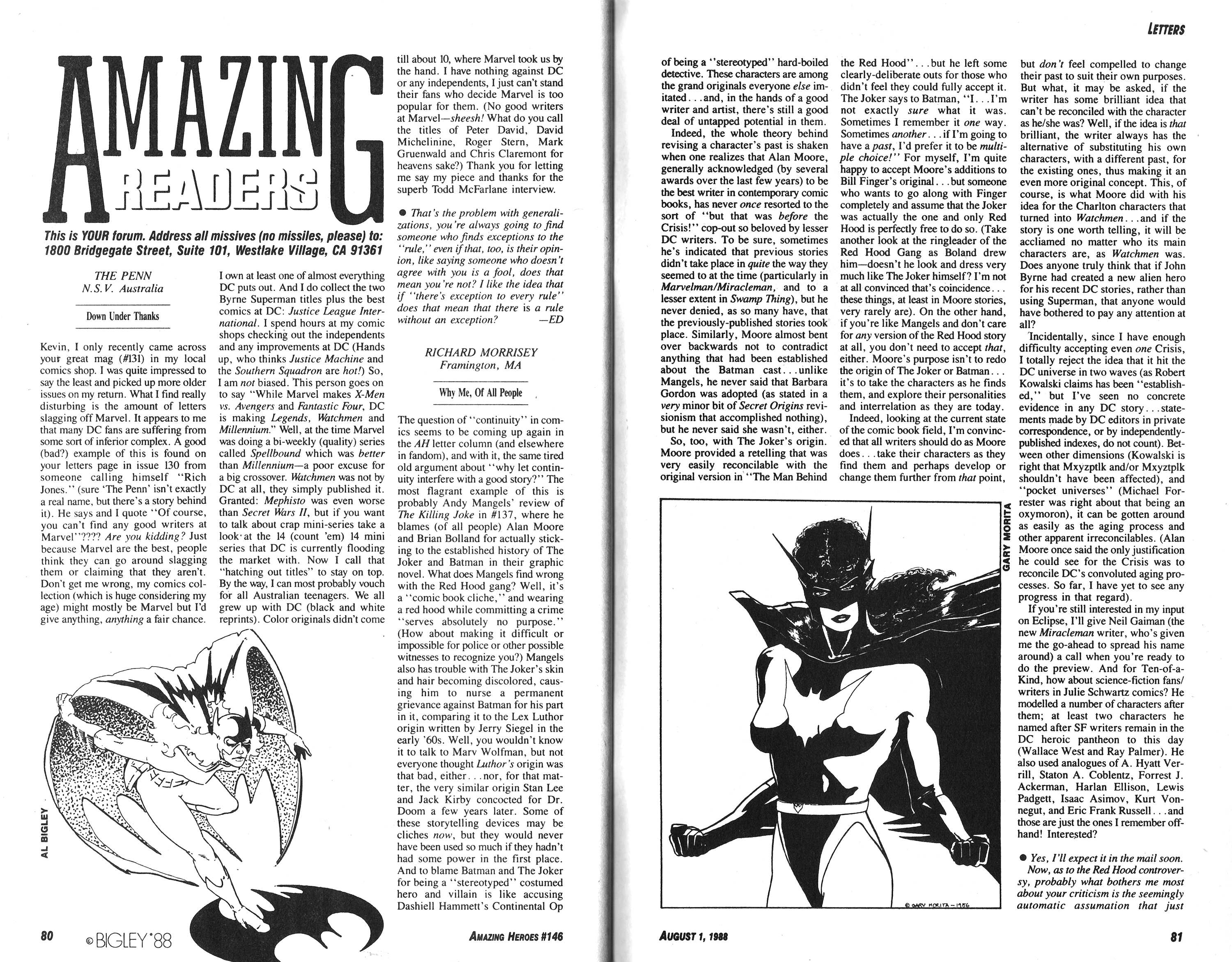 Read online Amazing Heroes comic -  Issue #146 - 41