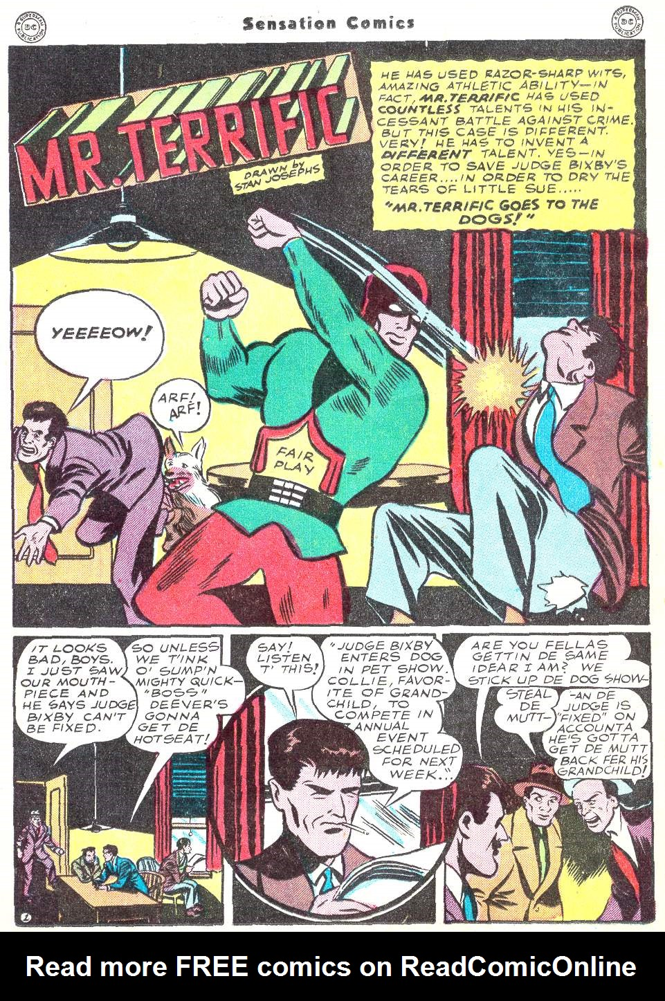 Read online Sensation (Mystery) Comics comic -  Issue #50 - 25