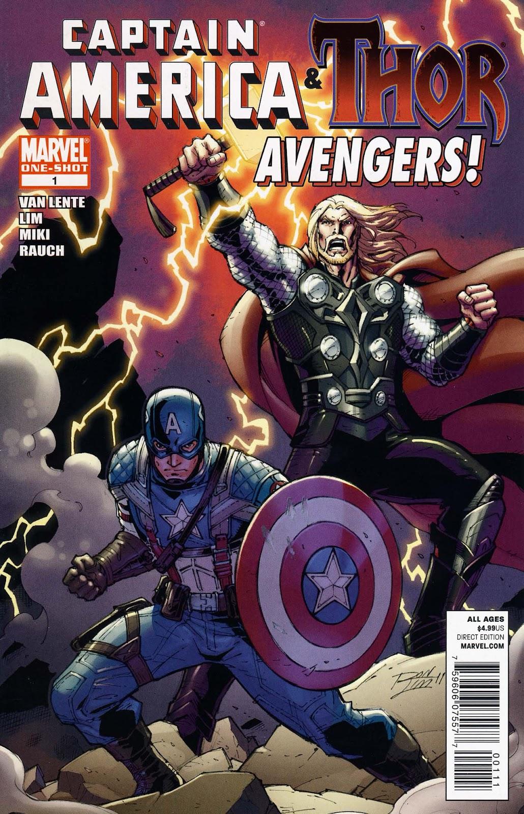 Captain America & Thor: Avengers Full Page 1