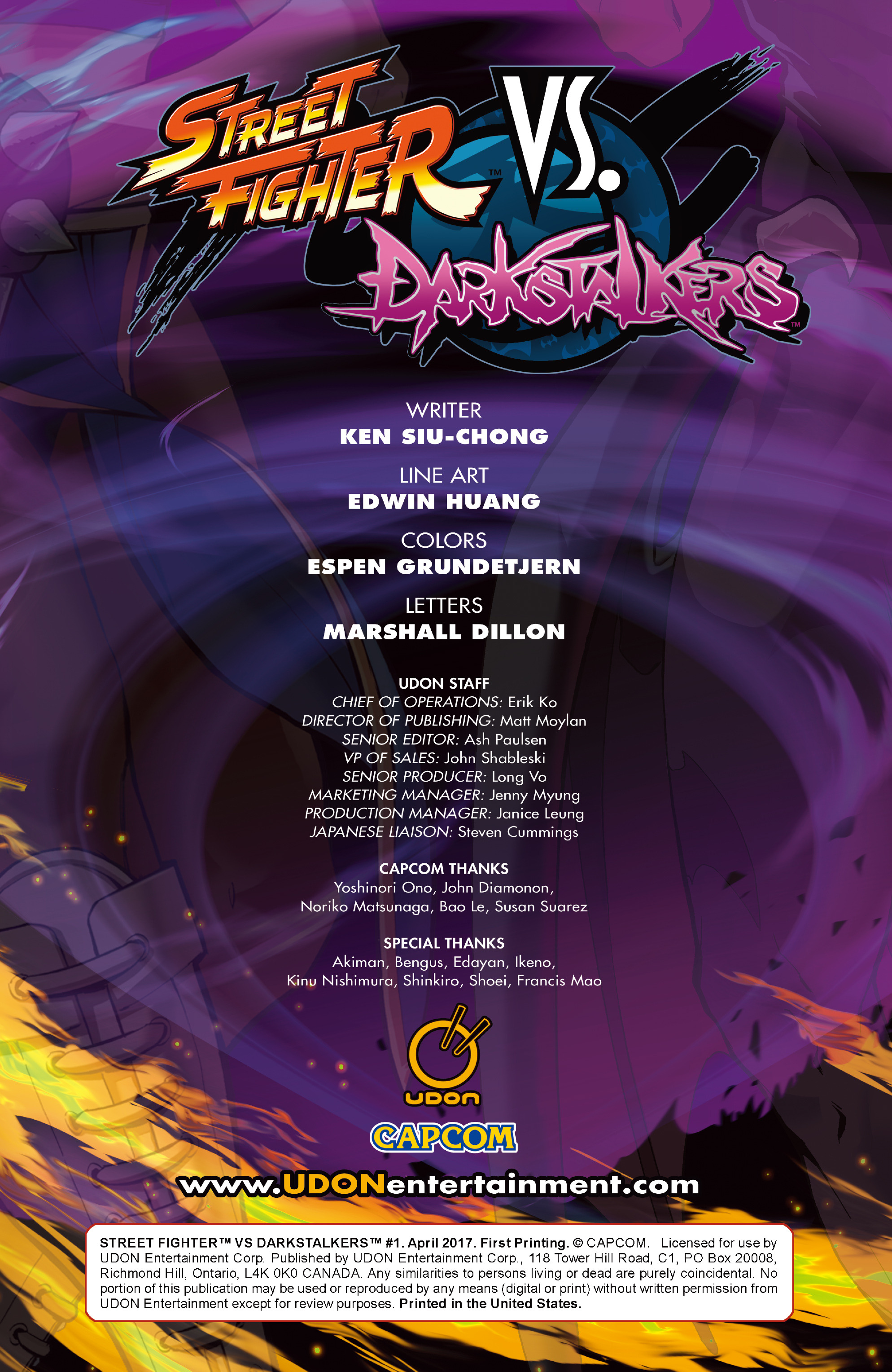 Read online Street Fighter VS Darkstalkers comic -  Issue #1 - 2
