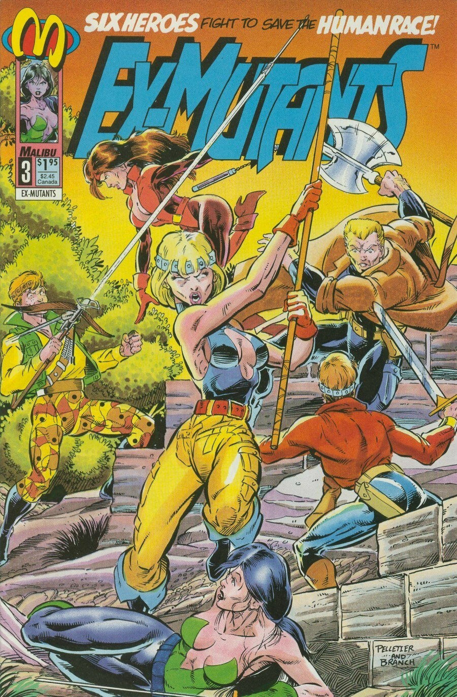 Read online Ex-Mutants comic -  Issue #3 - 1