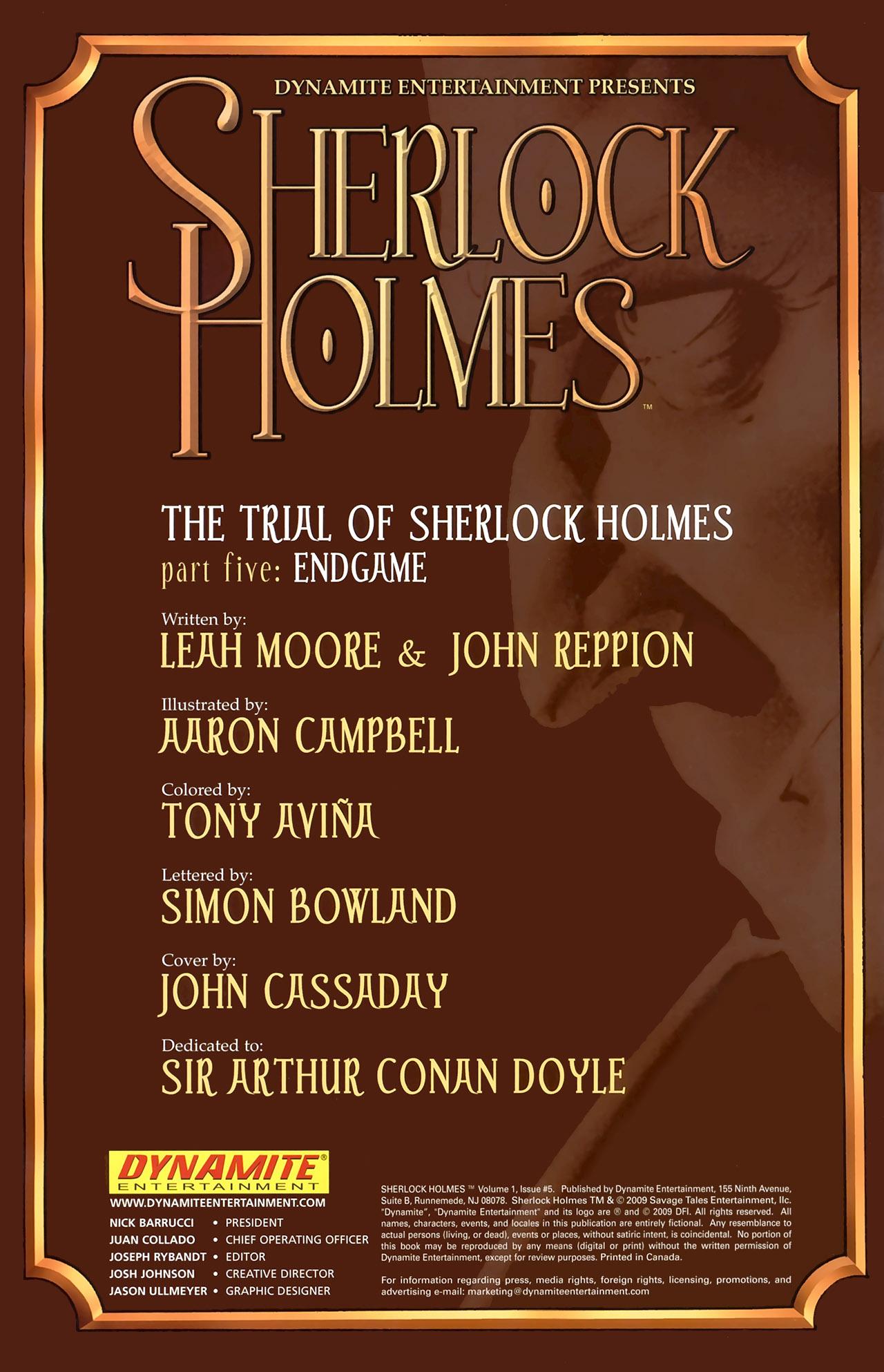 Read online Sherlock Holmes (2009) comic -  Issue #5 - 2