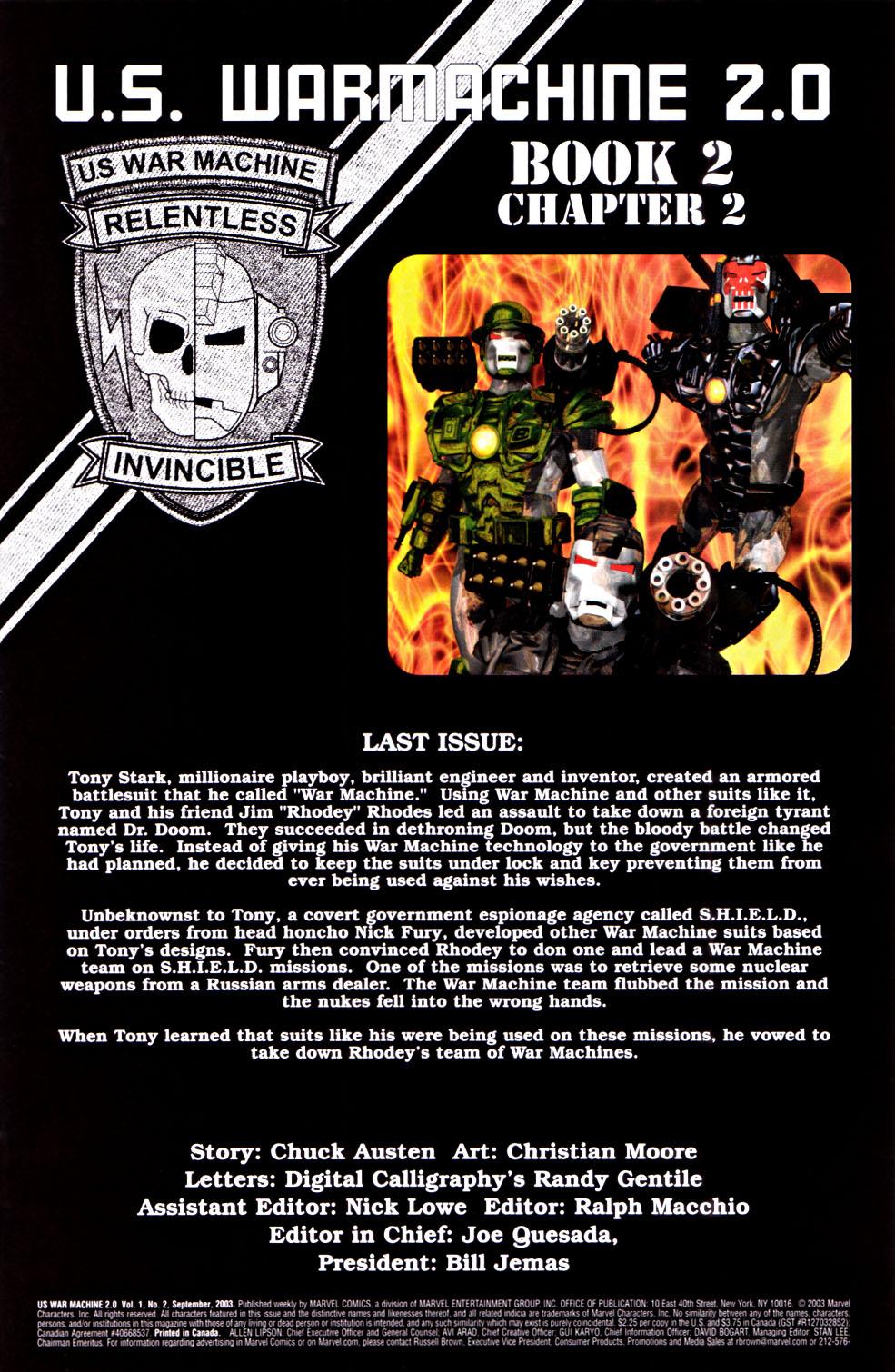 Read online U.S. War Machine 2.0 comic -  Issue #2 - 2