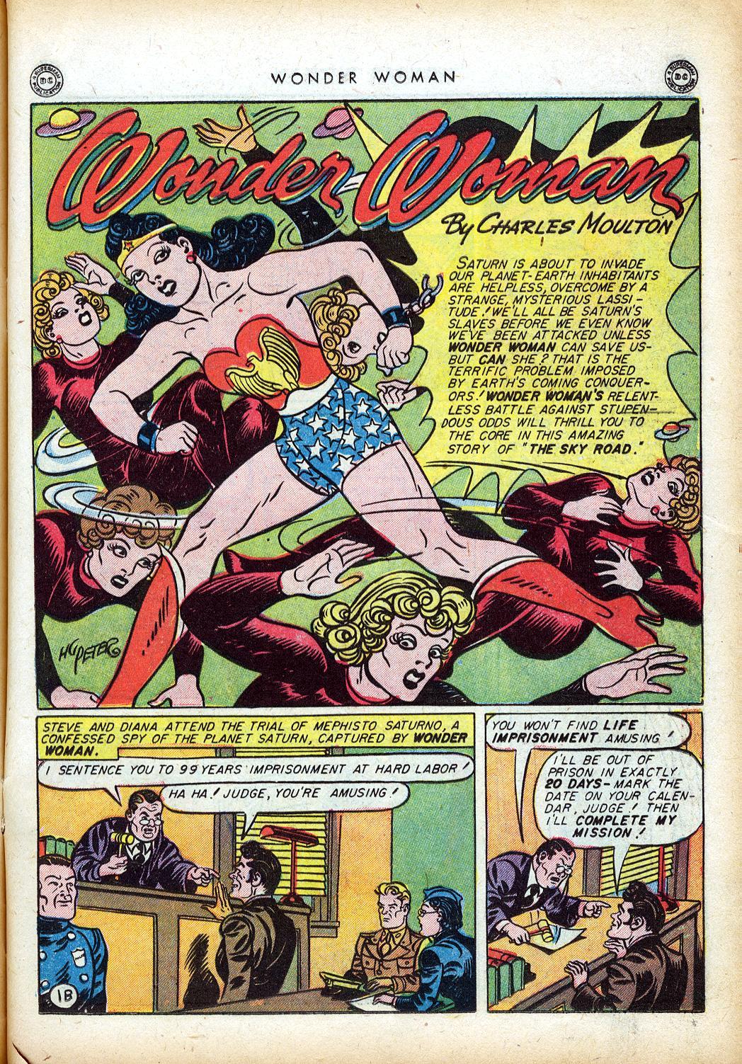 Read online Wonder Woman (1942) comic -  Issue #10 - 22
