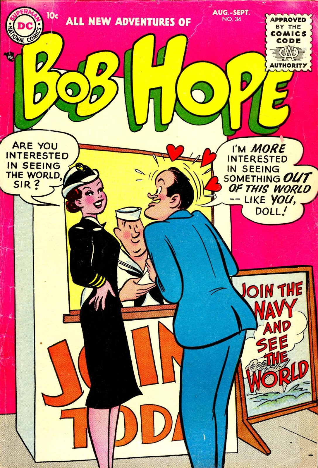 The Adventures of Bob Hope issue 34 - Page 1
