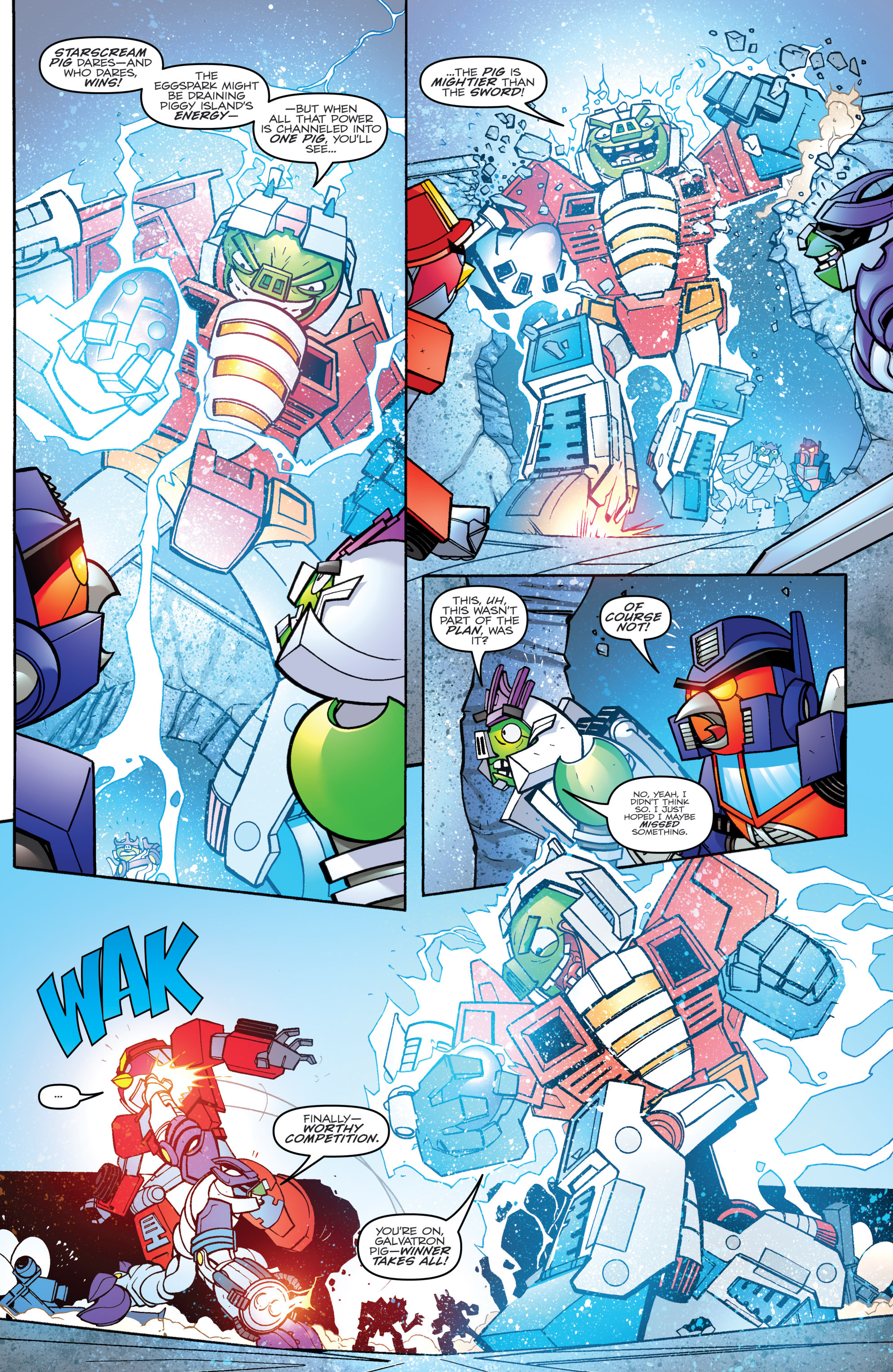 Read online Angry Birds Transformers comic -  Issue #4 - 16