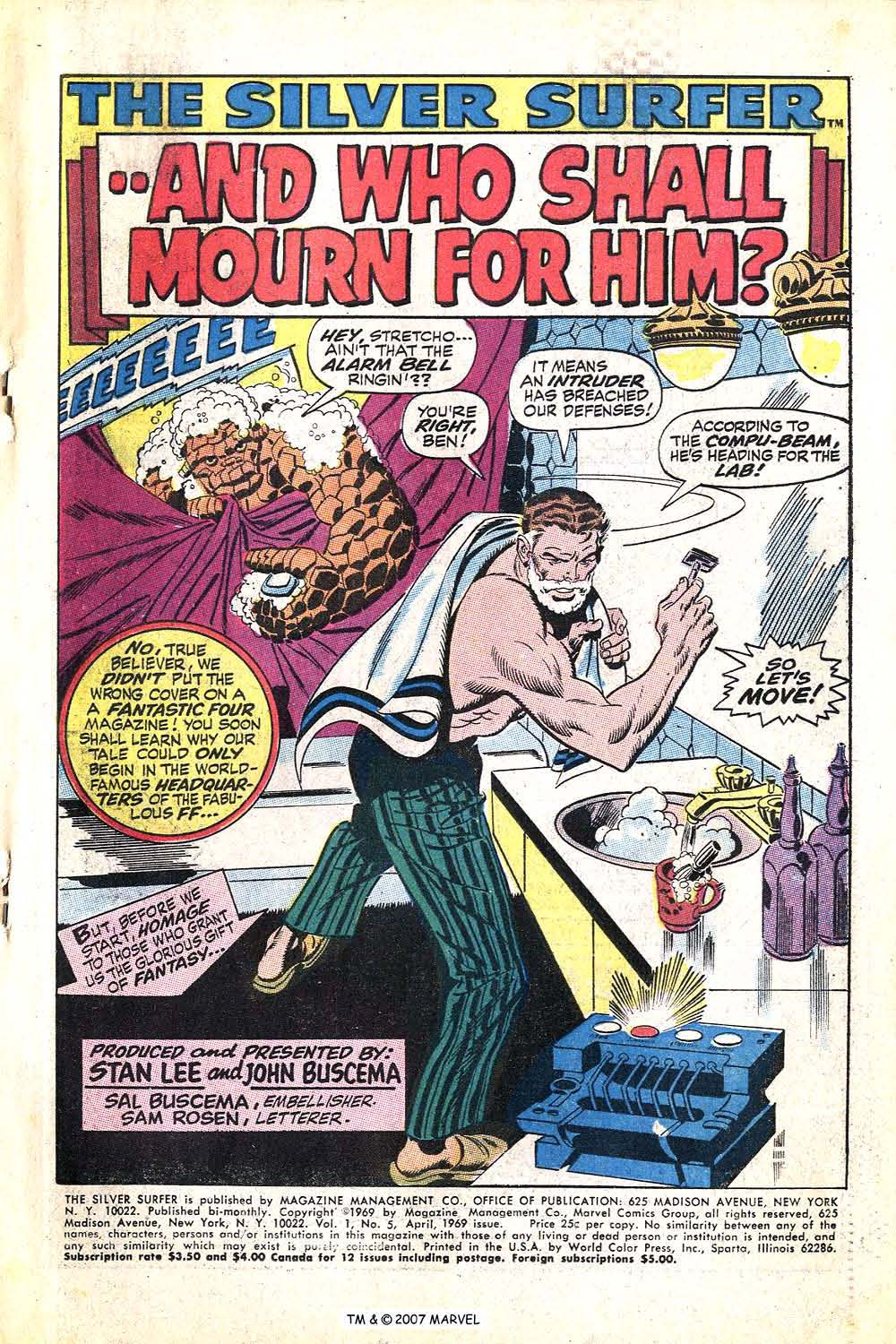 Read online Silver Surfer (1968) comic -  Issue #5 - 3