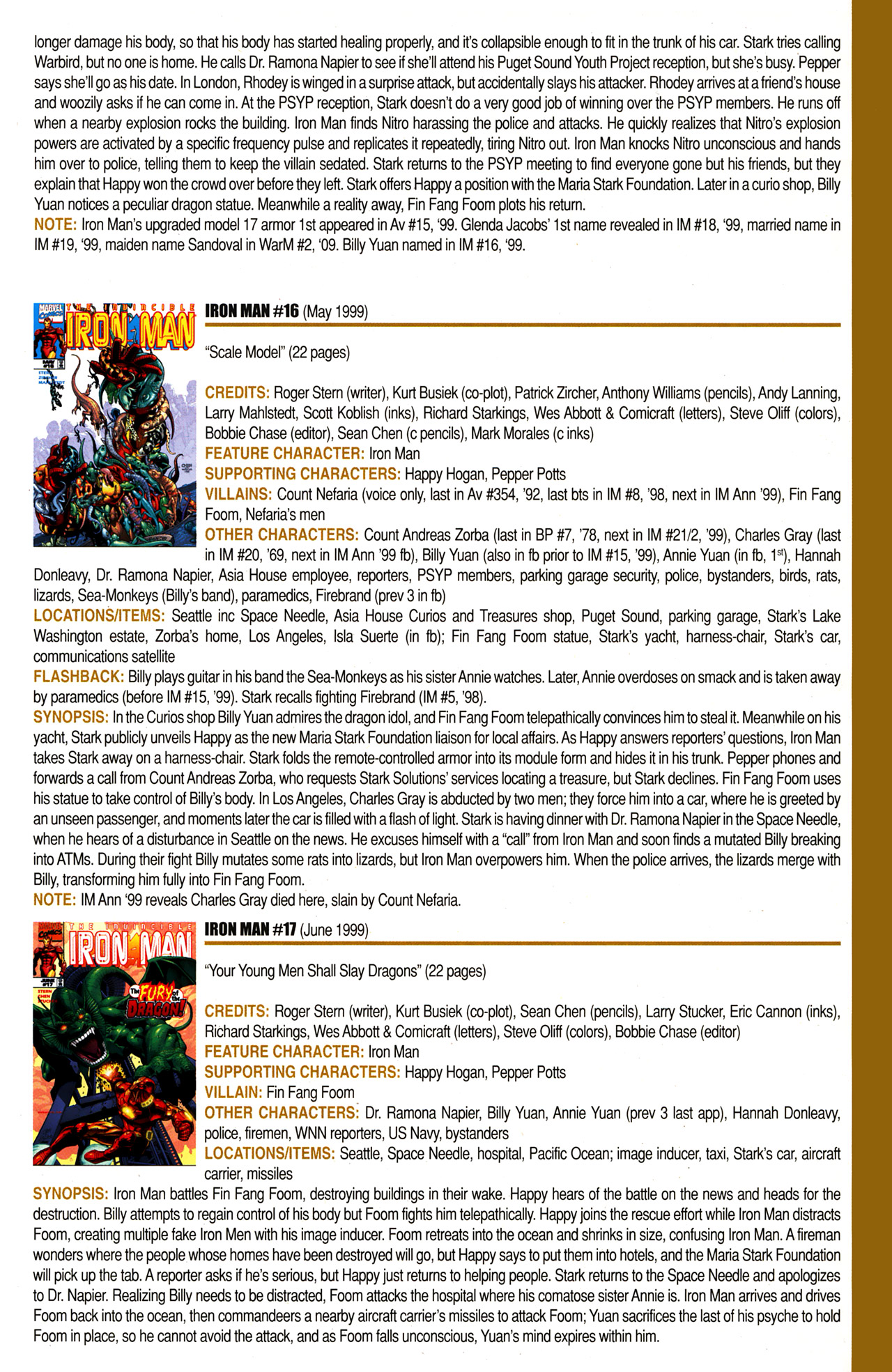 Read online Official Index to the Marvel Universe comic -  Issue #10 - 35