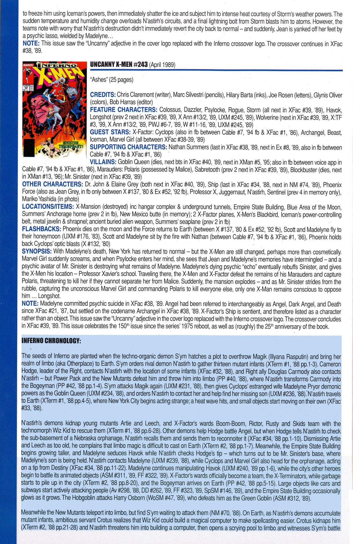 Read online Official Index to the Marvel Universe comic -  Issue #6 - 52
