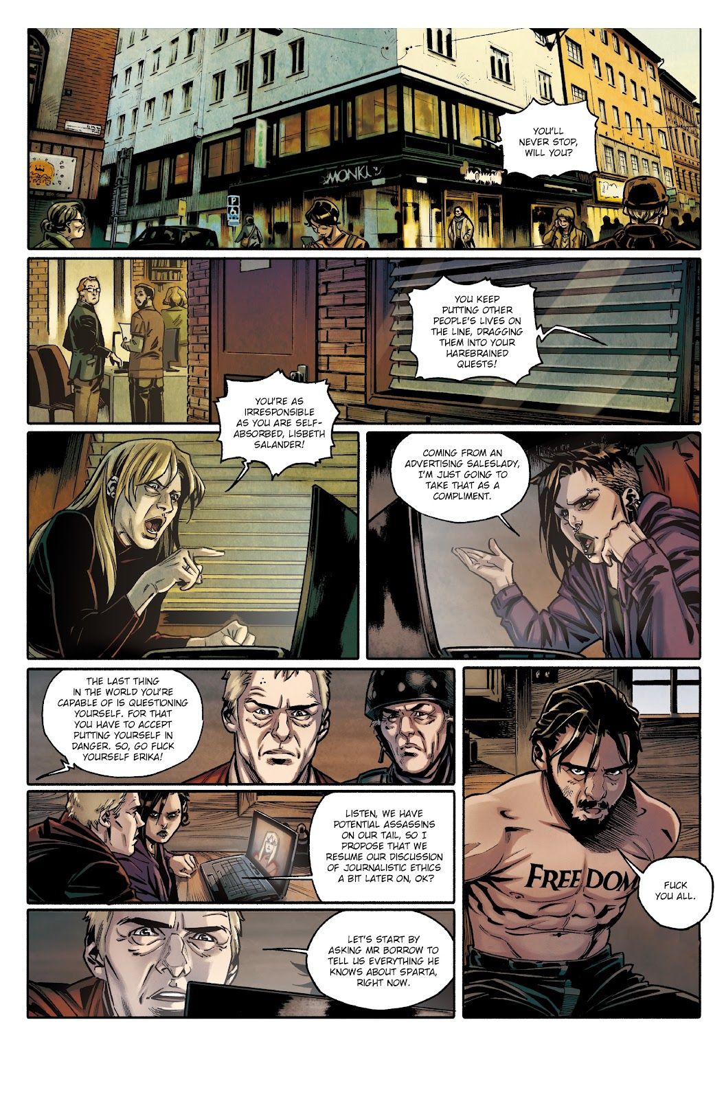 Read online Millennium: The Girl Who Danced With Death comic -  Issue #3 - 20