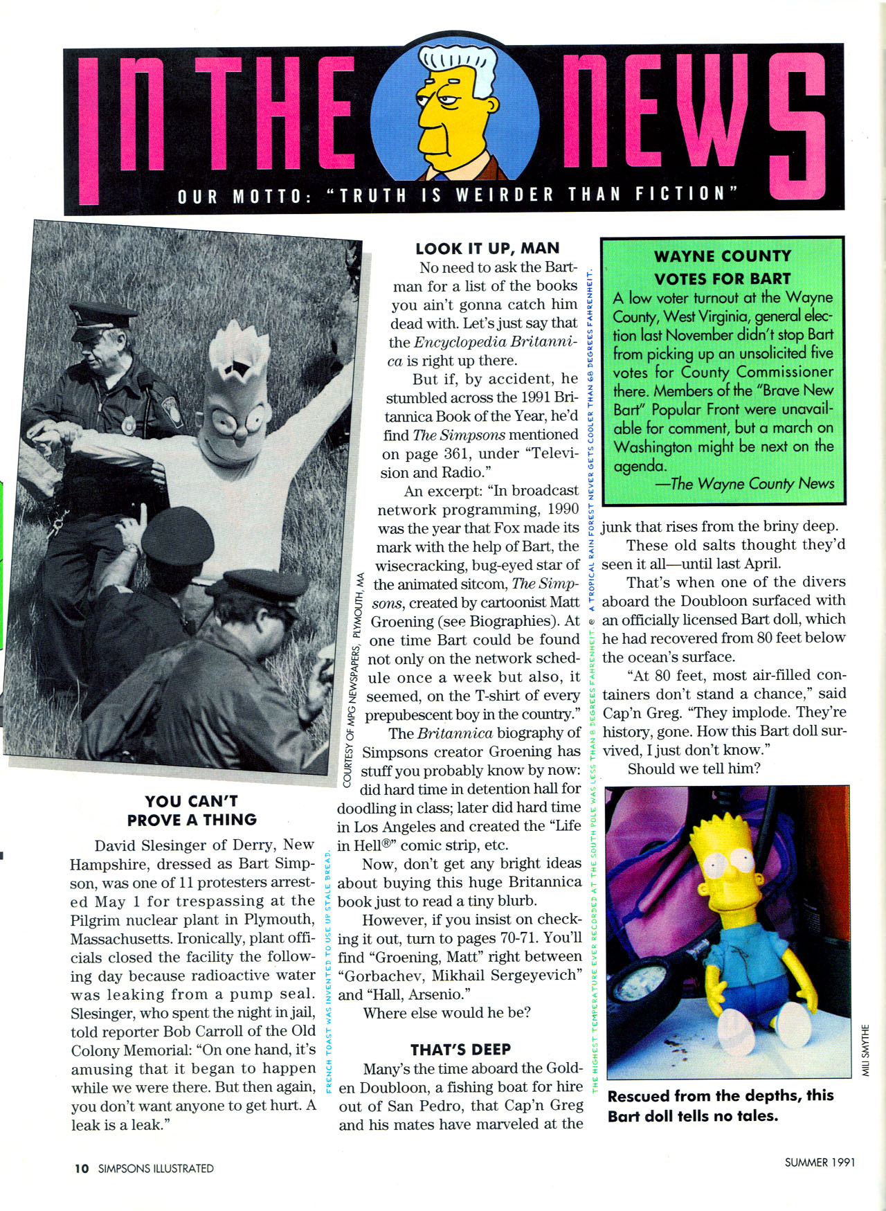Read online Simpsons Illustrated (1991) comic -  Issue #2 - 12