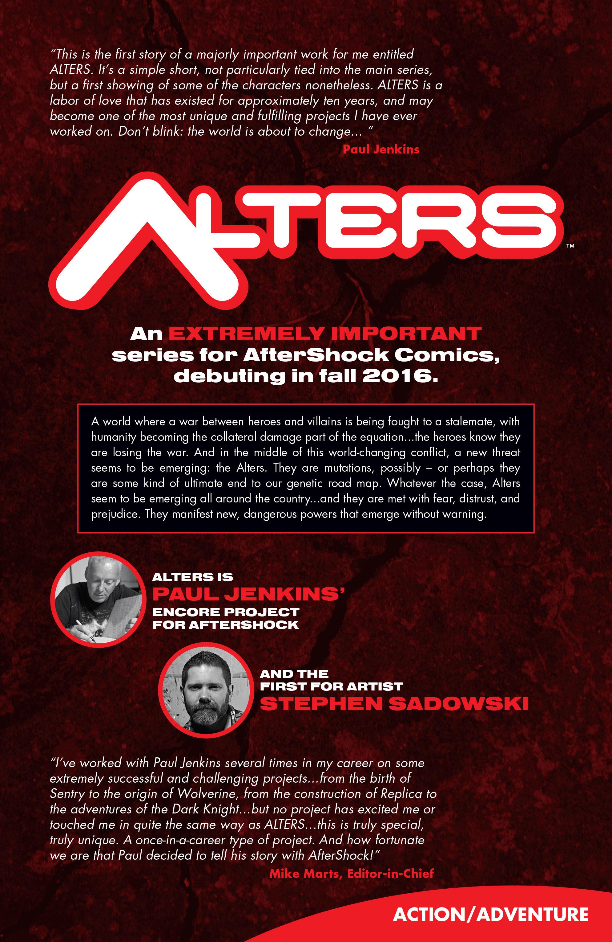 Read online Aftershock Genesis comic -  Issue #1 - 11