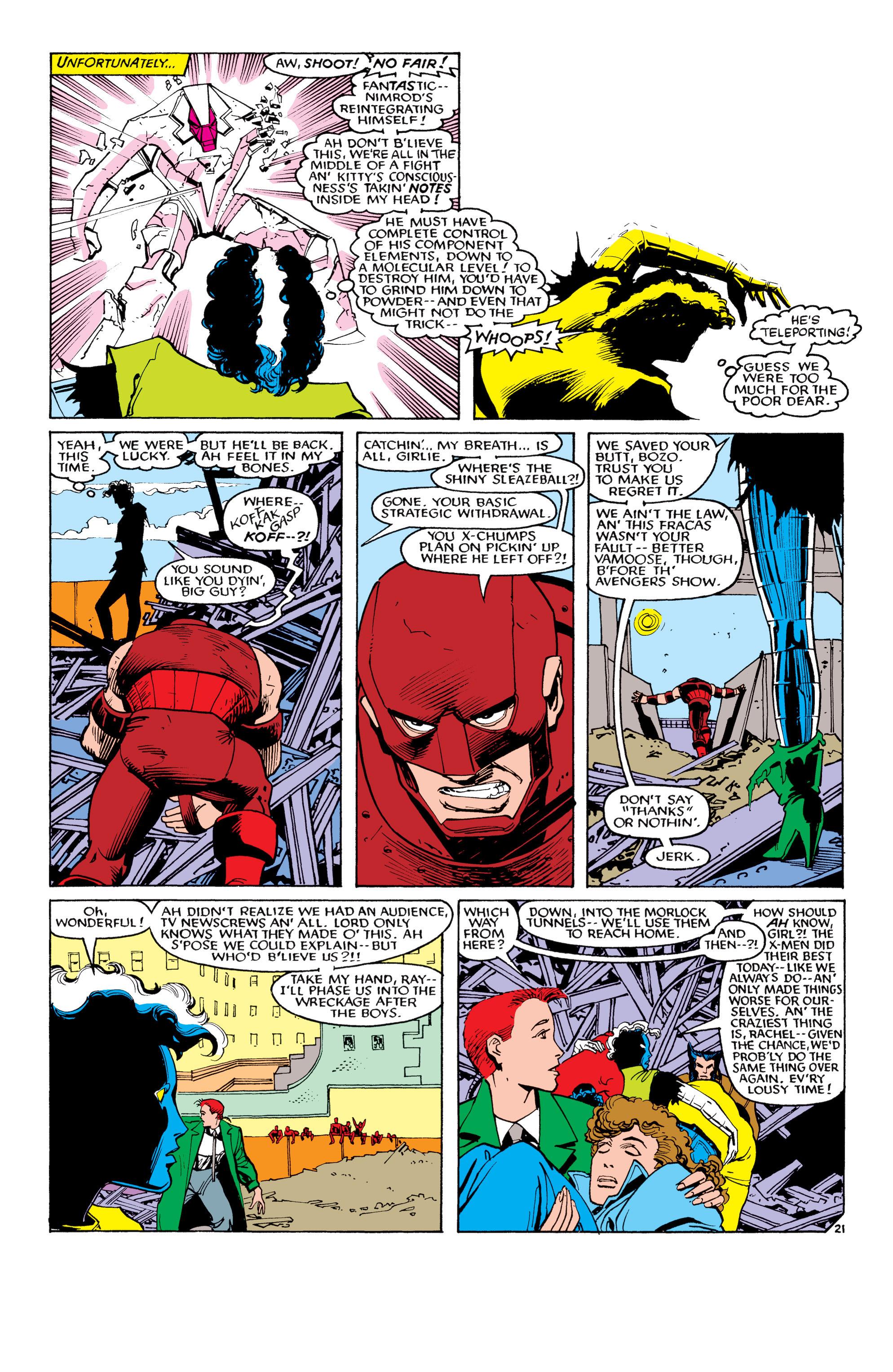 Read online Uncanny X-Men (1963) comic -  Issue #194 - 22