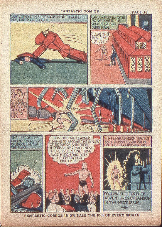Read online Fantastic Comics comic -  Issue #4 - 15