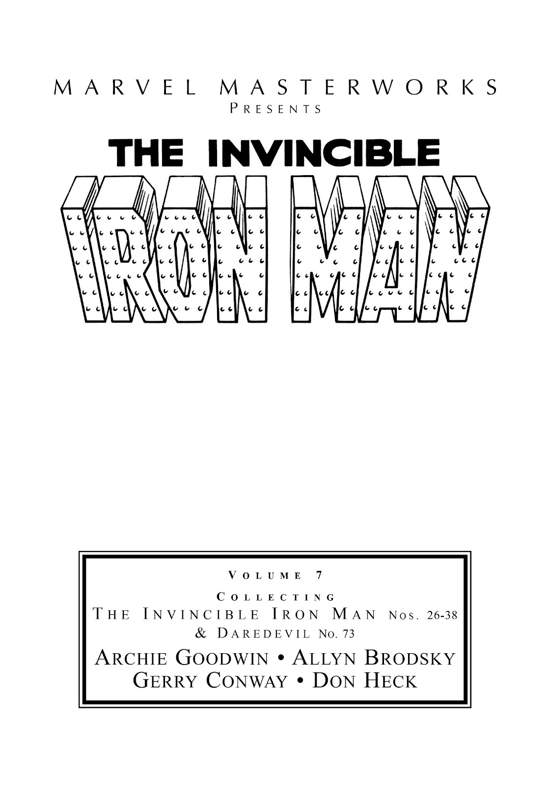 Read online Marvel Masterworks: The Invincible Iron Man comic -  Issue # TPB 7 (Part 1) - 2