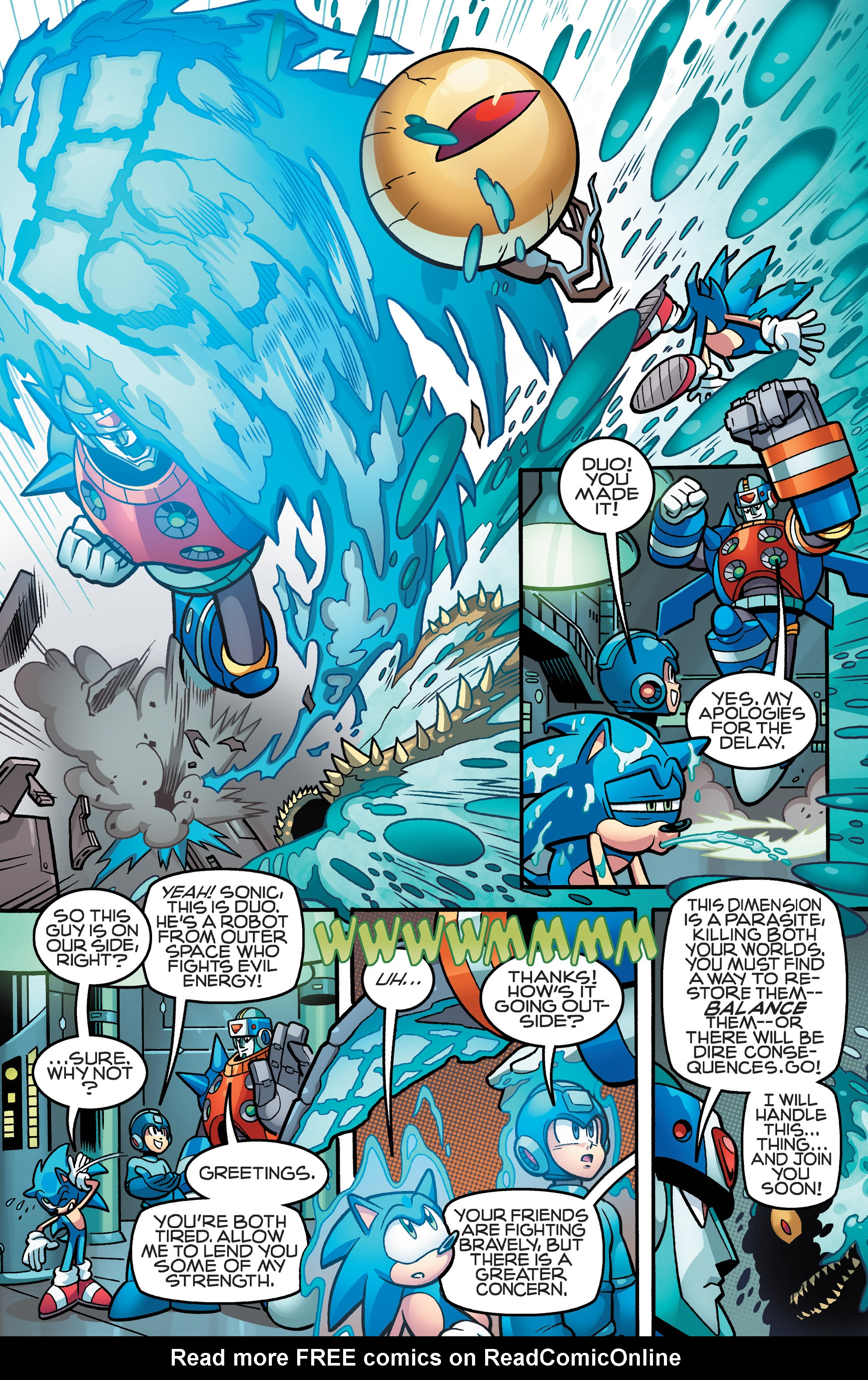 Read online Sonic Mega Man Worlds Collide comic -  Issue # Vol 3 - 65