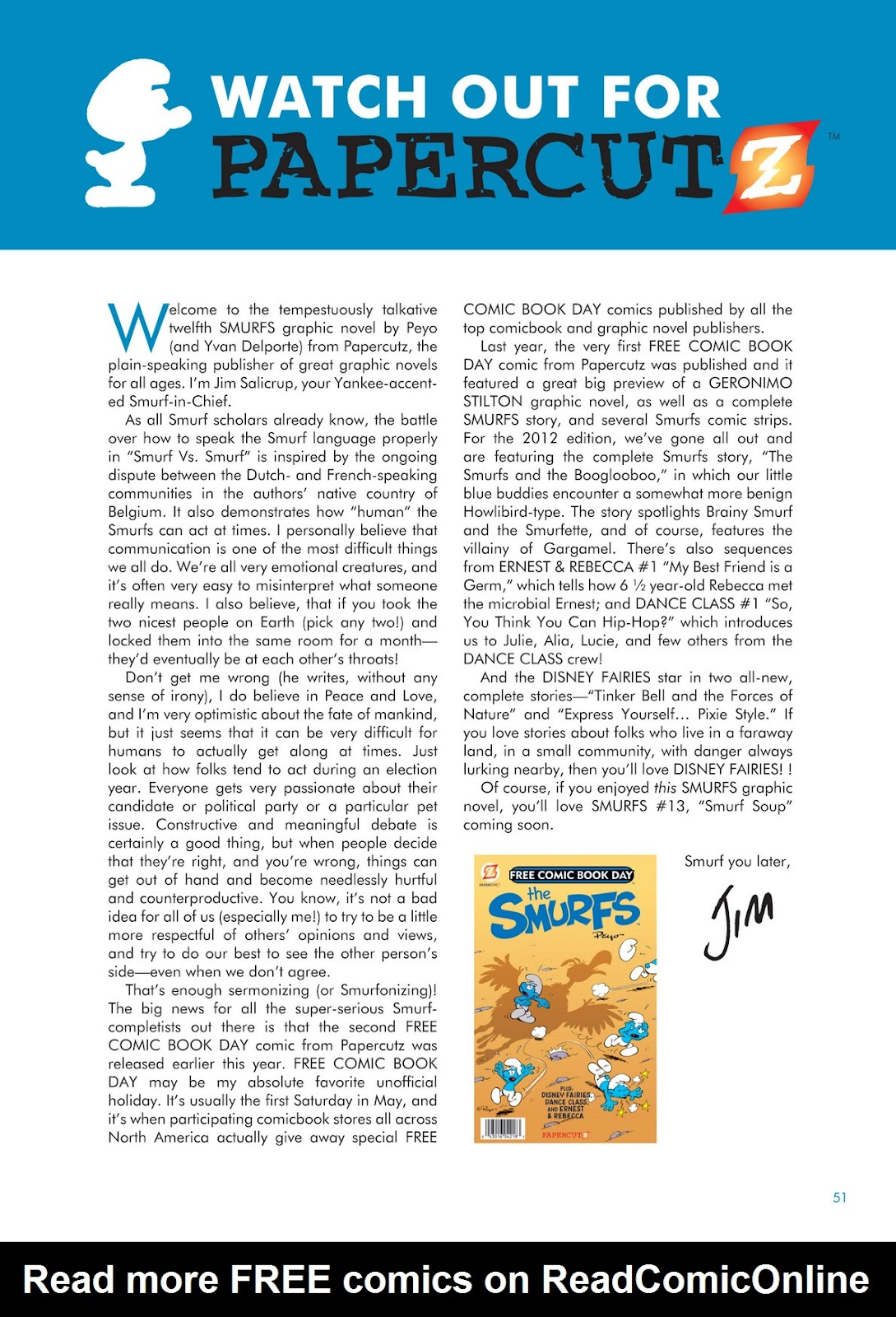 Read online The Smurfs comic -  Issue #12 - 51