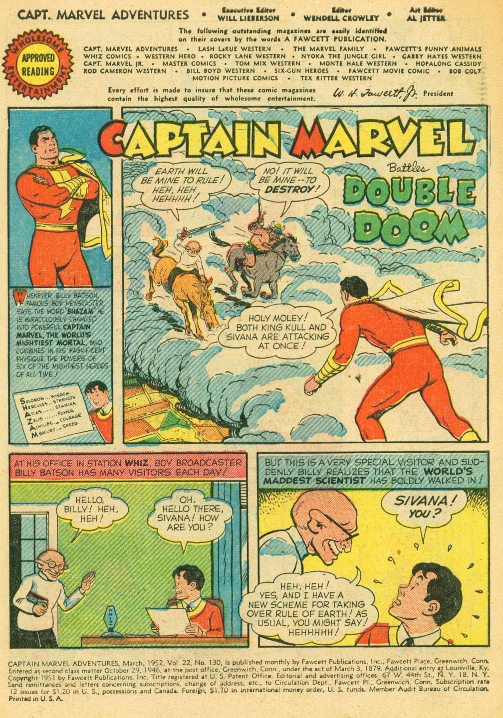 Captain Marvel Adventures issue 130 - Page 3