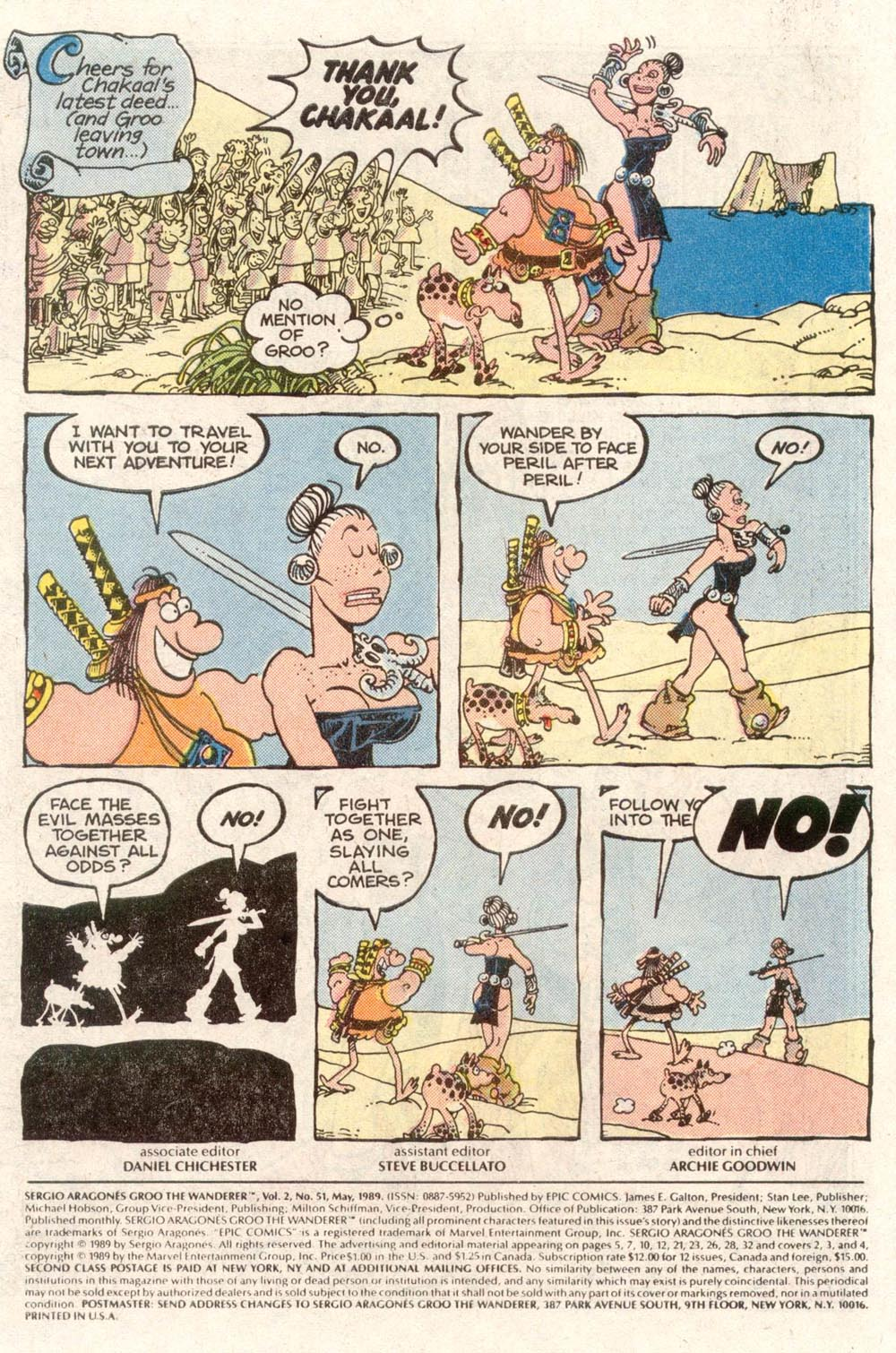 Read online Sergio Aragonés Groo the Wanderer comic -  Issue #51 - 2