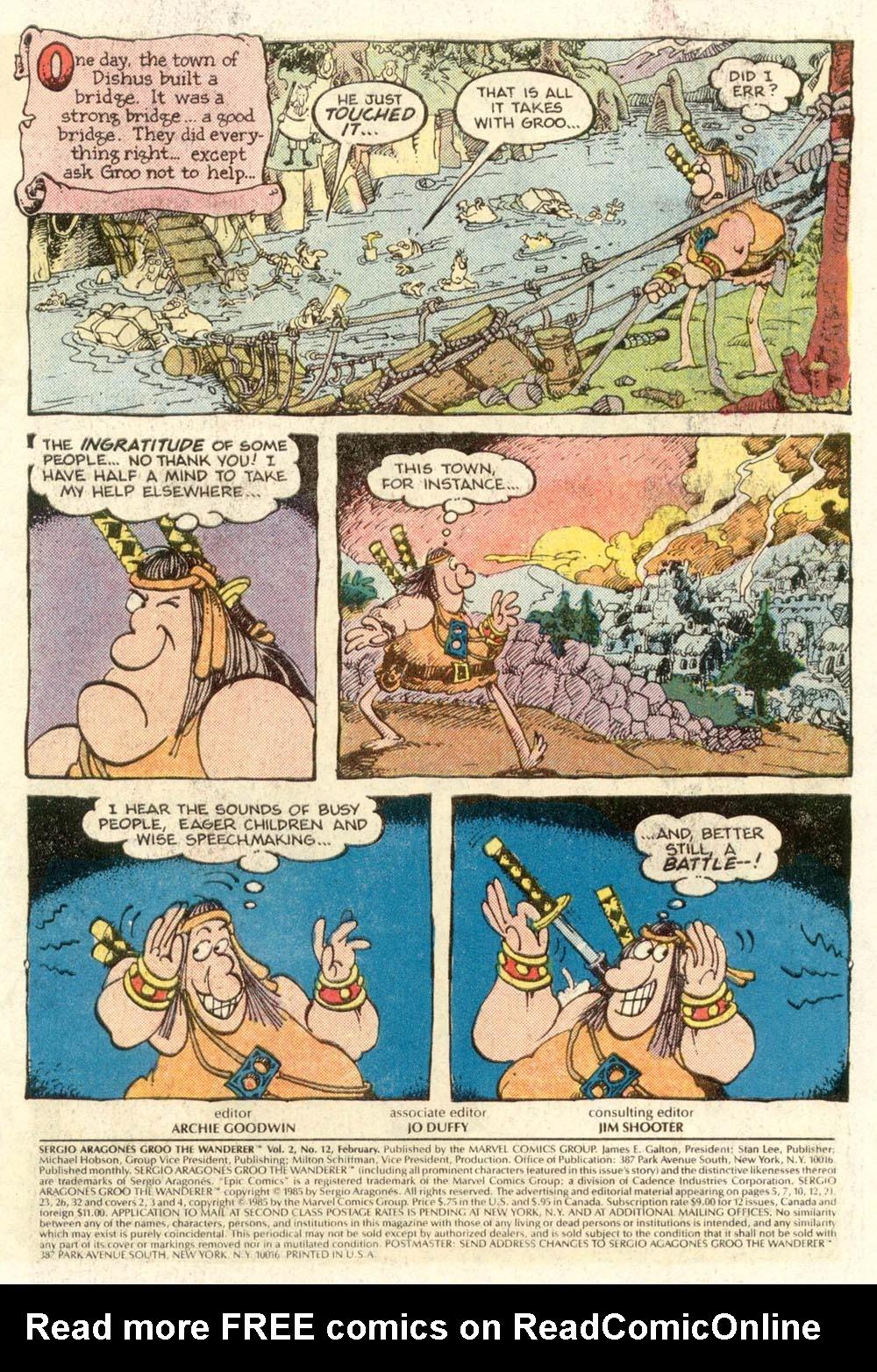 Read online Sergio Aragonés Groo the Wanderer comic -  Issue #12 - 2