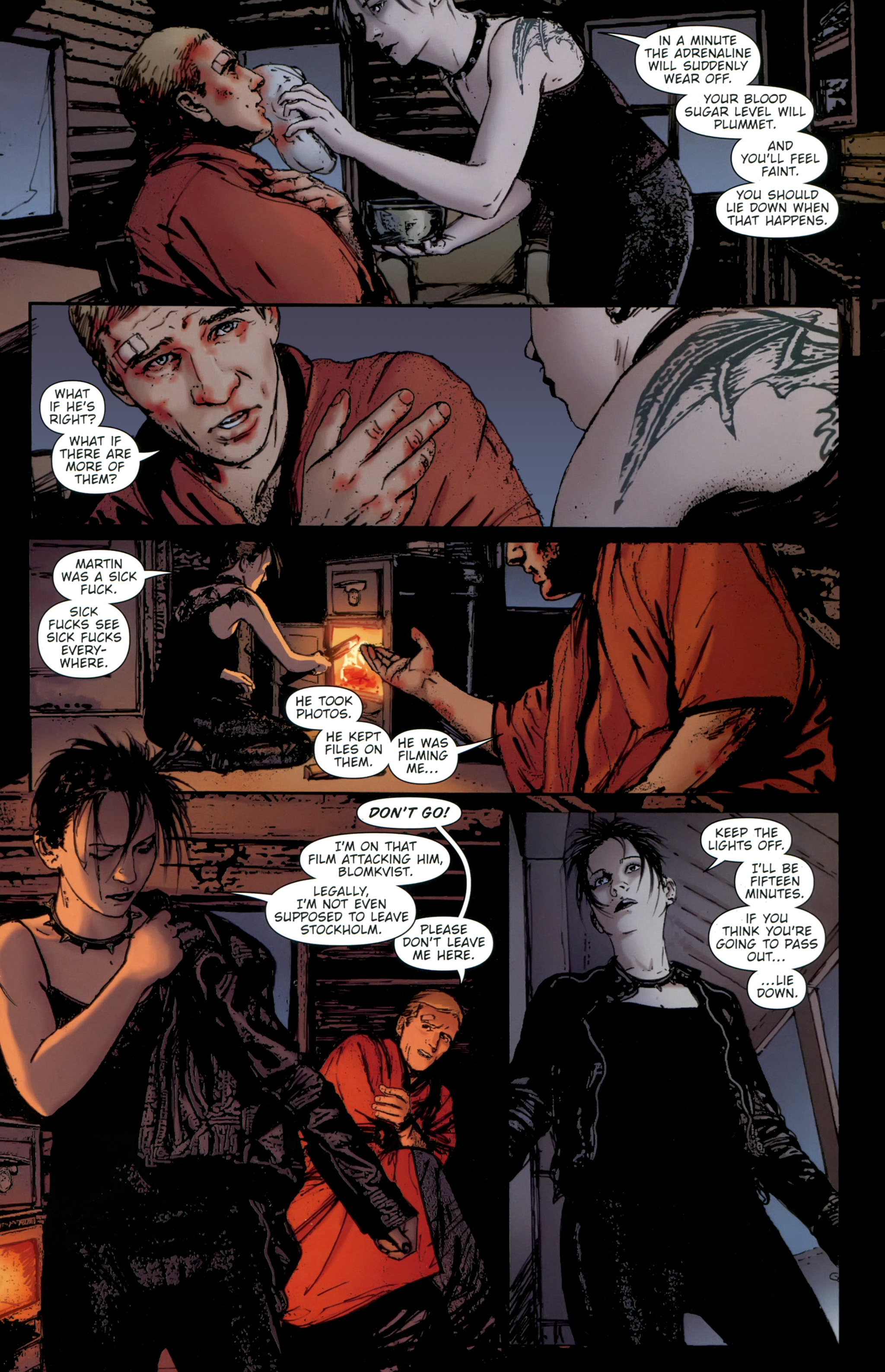 Read online The Girl With the Dragon Tattoo comic -  Issue # TPB 2 - 111