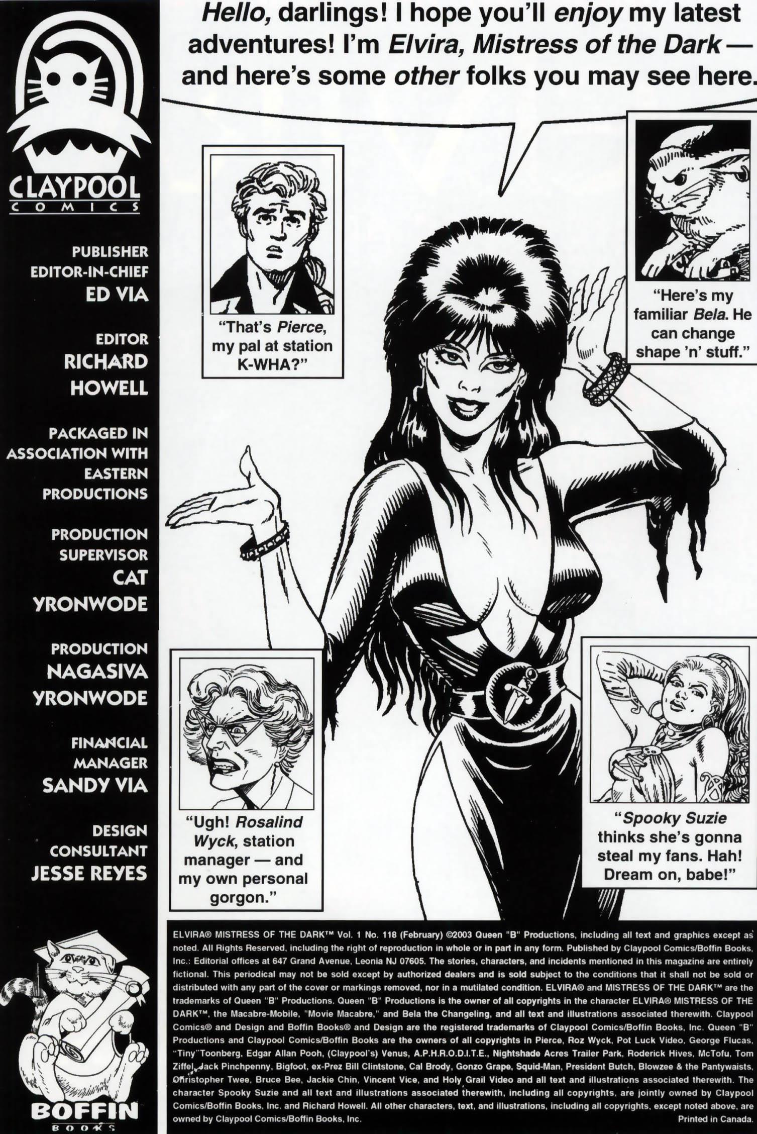 Read online Elvira, Mistress of the Dark comic -  Issue #118 - 2