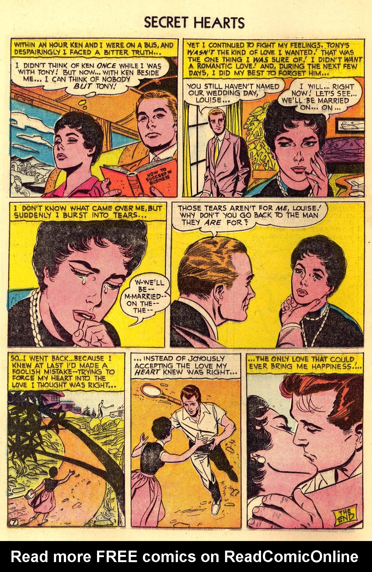 Read online Secret Hearts comic -  Issue #30 - 16